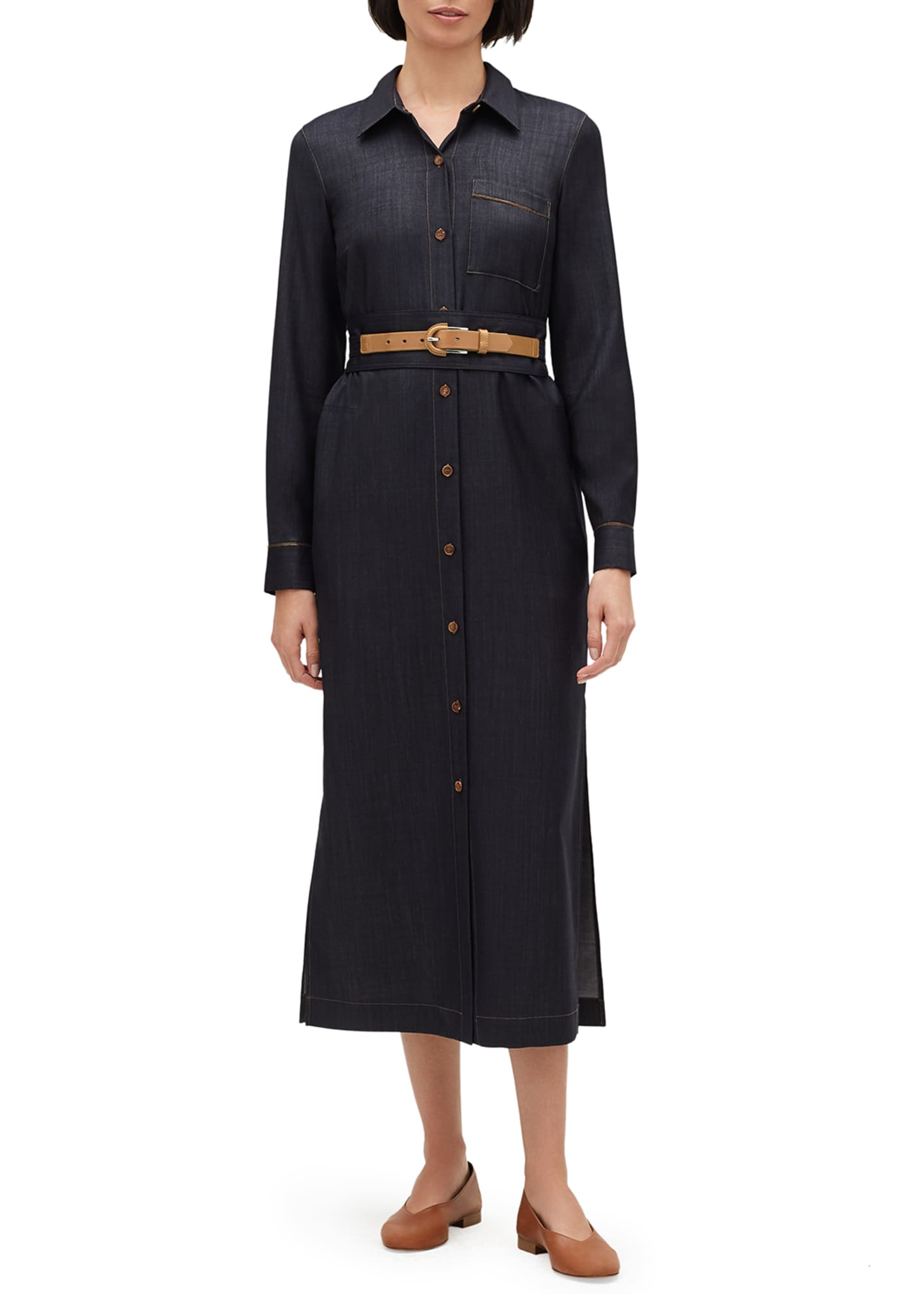 Lafayette 148 New York Madra Mercantile Cloth Button-Front