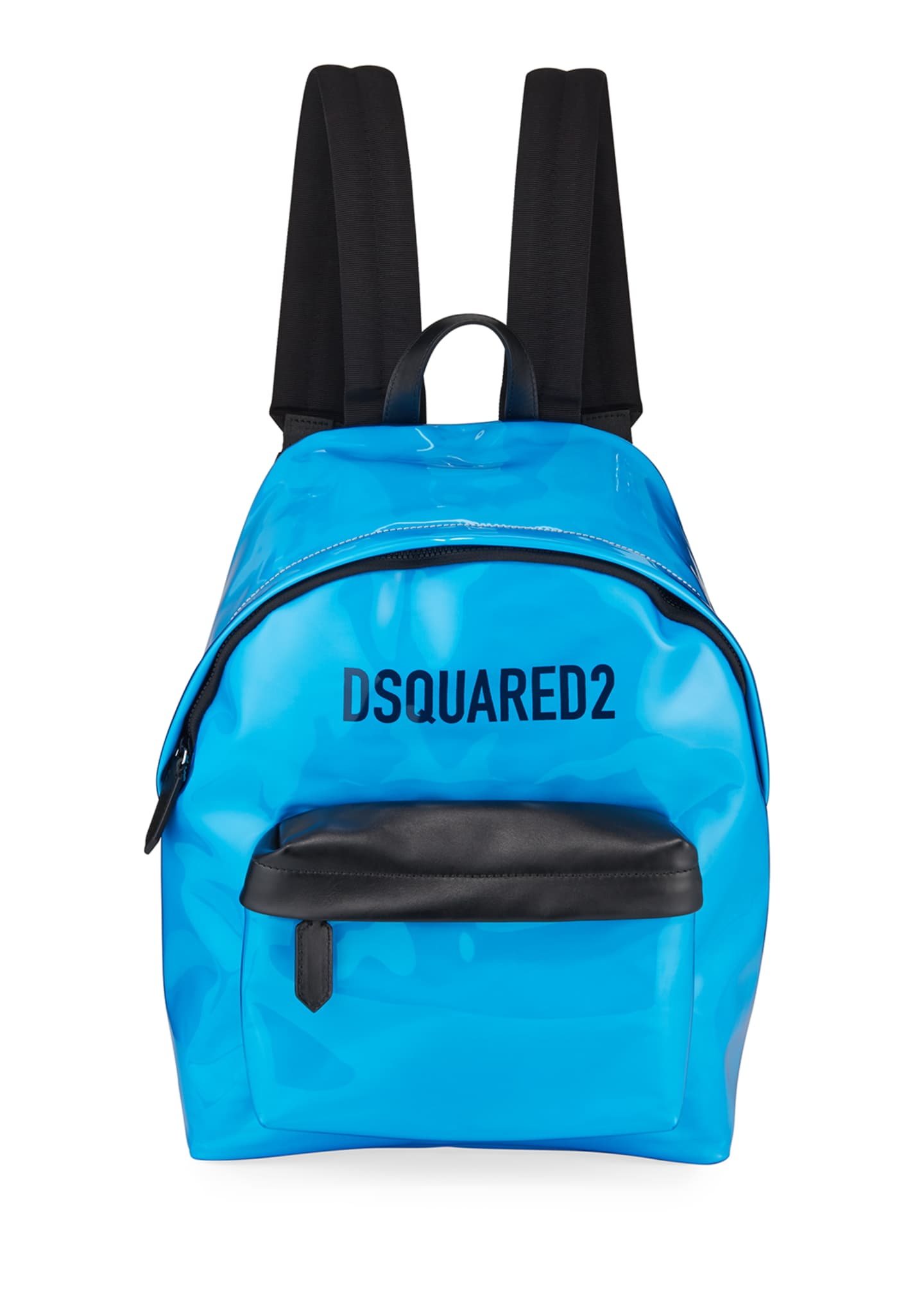 Dsquared2 Men's Logo PVC Zip-Top Backpack