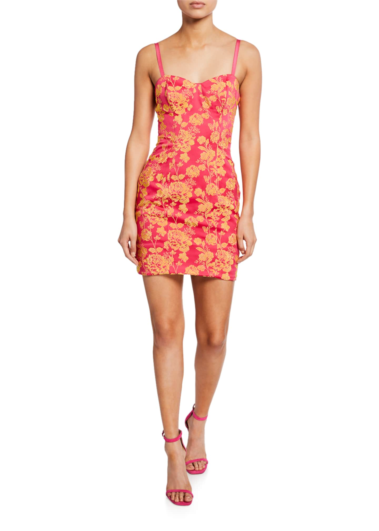cinq a sept Erica Floral-Print Cutout Mini Dress