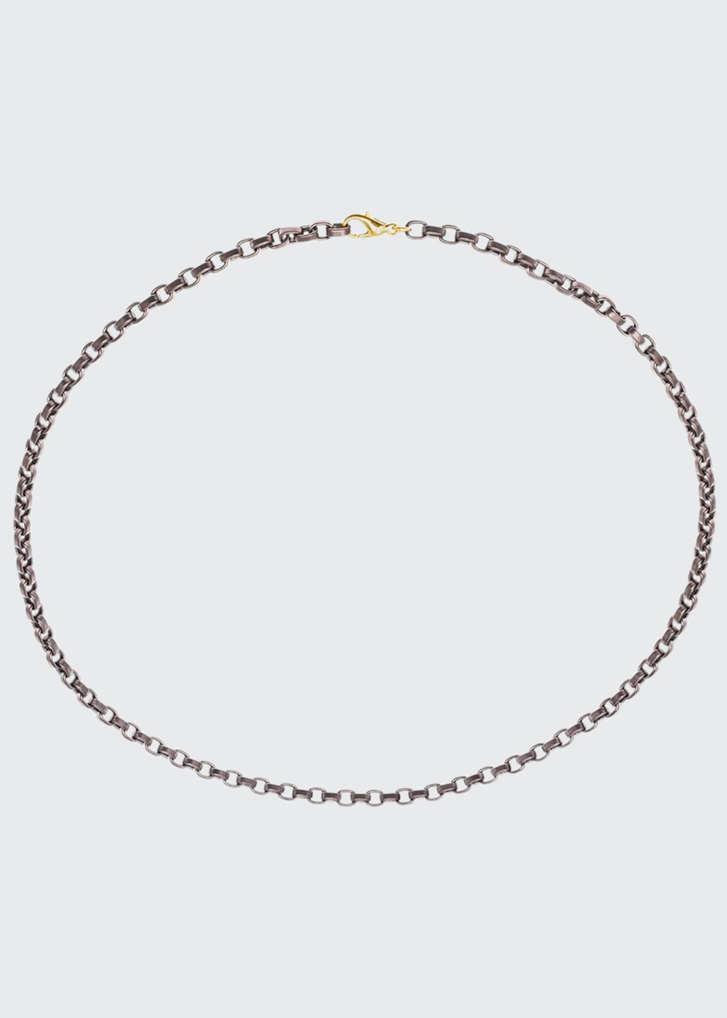 Jorge Adeler Men's Stainless Steel Chain w/ 18k