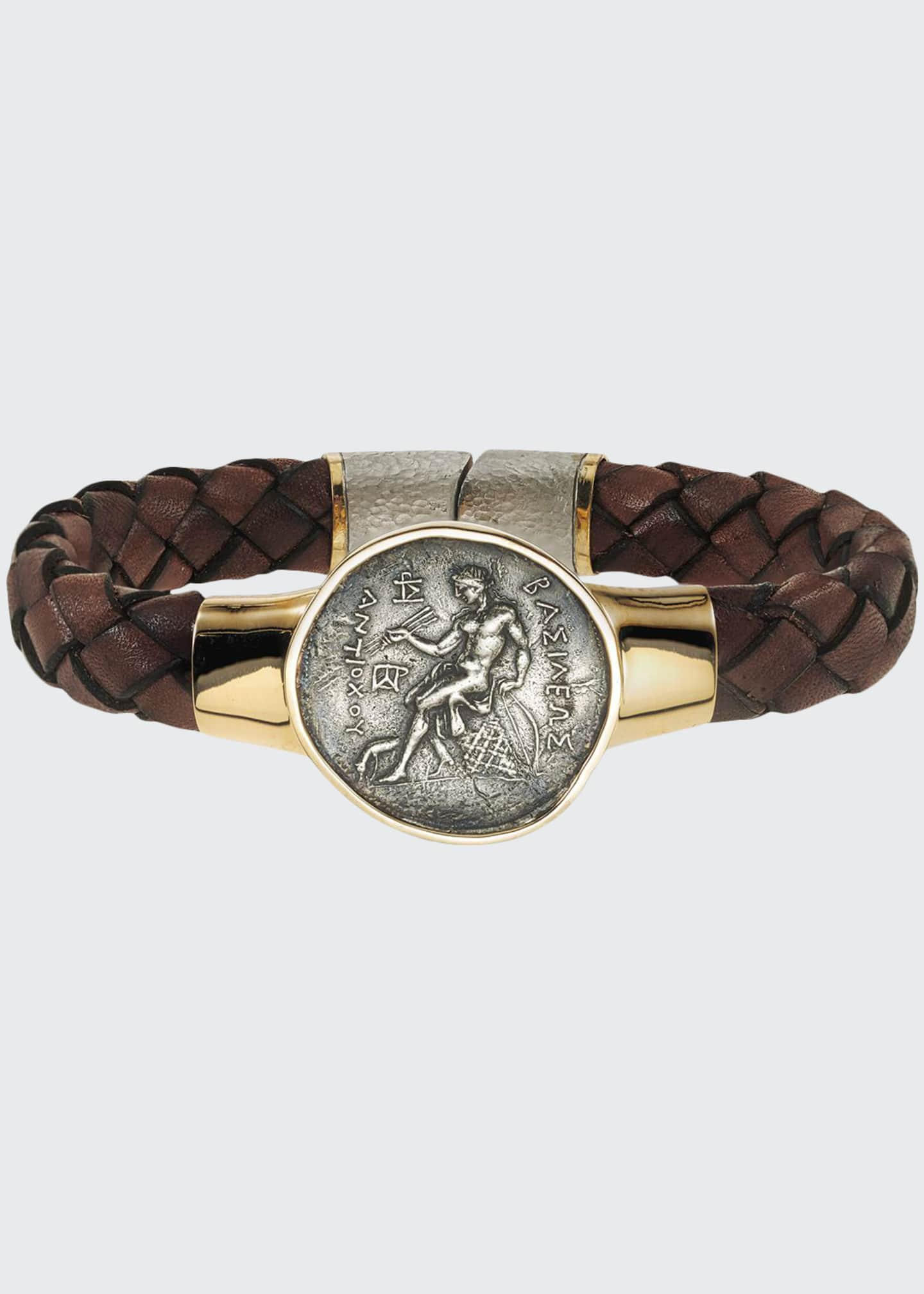 Jorge Adeler Men's Ancient Apollo Coin Braided Leather