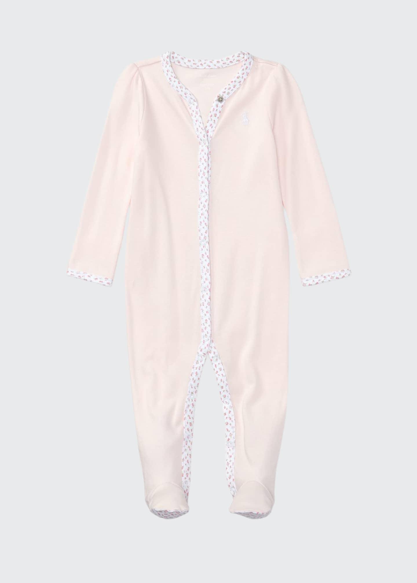 Ralph Lauren Childrenswear Cotton Footie Pajamas w/ Floral