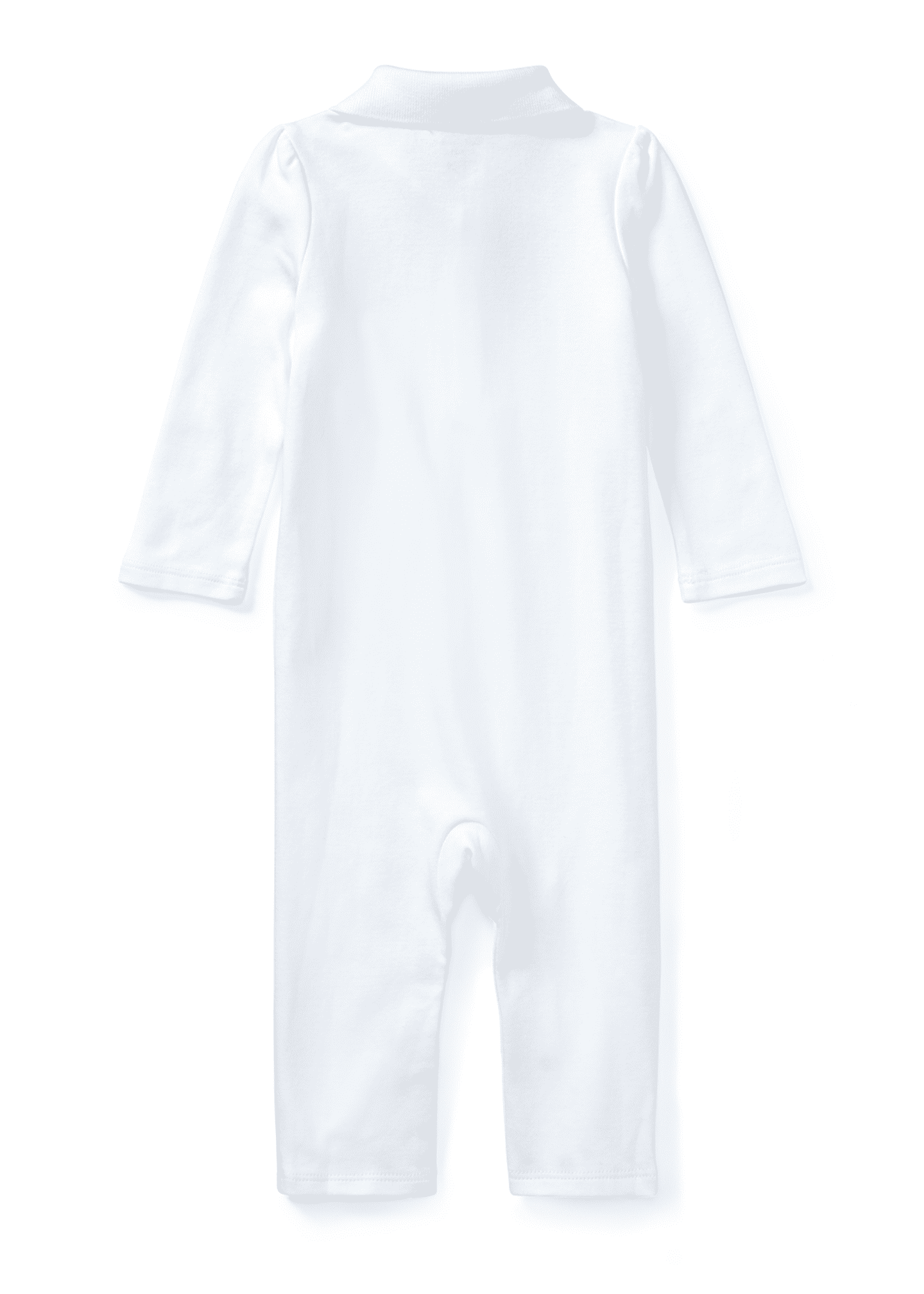 Image 2 of 2: Interlock Polo Coverall, Size 3-12 Months