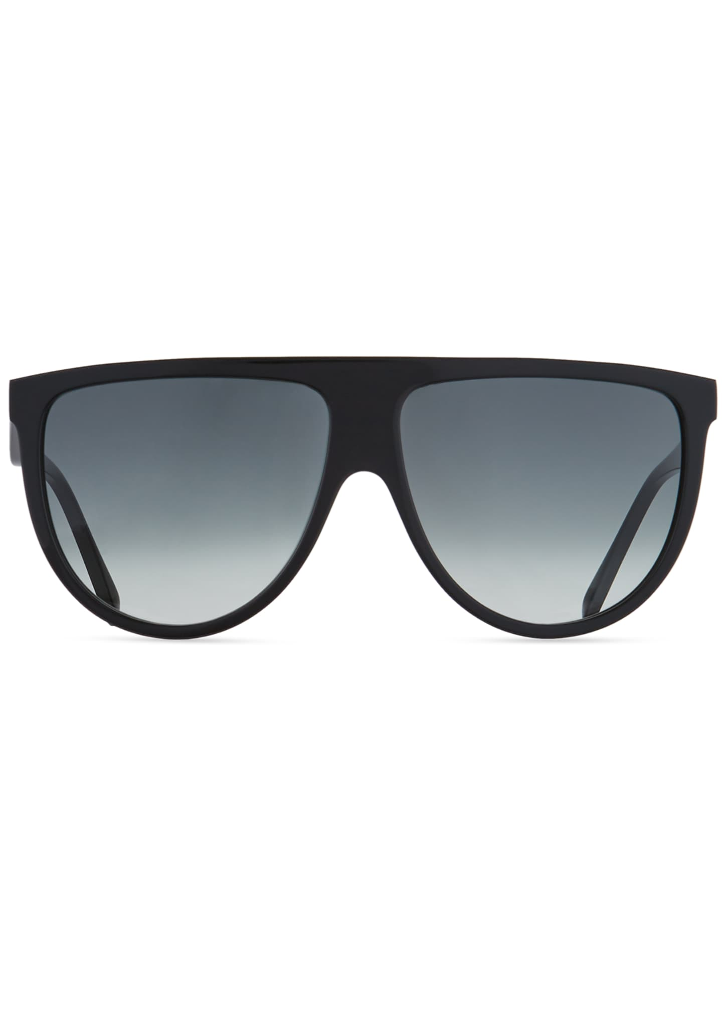Image 2 of 3: Men's Flattop Gradient Shield Sunglasses