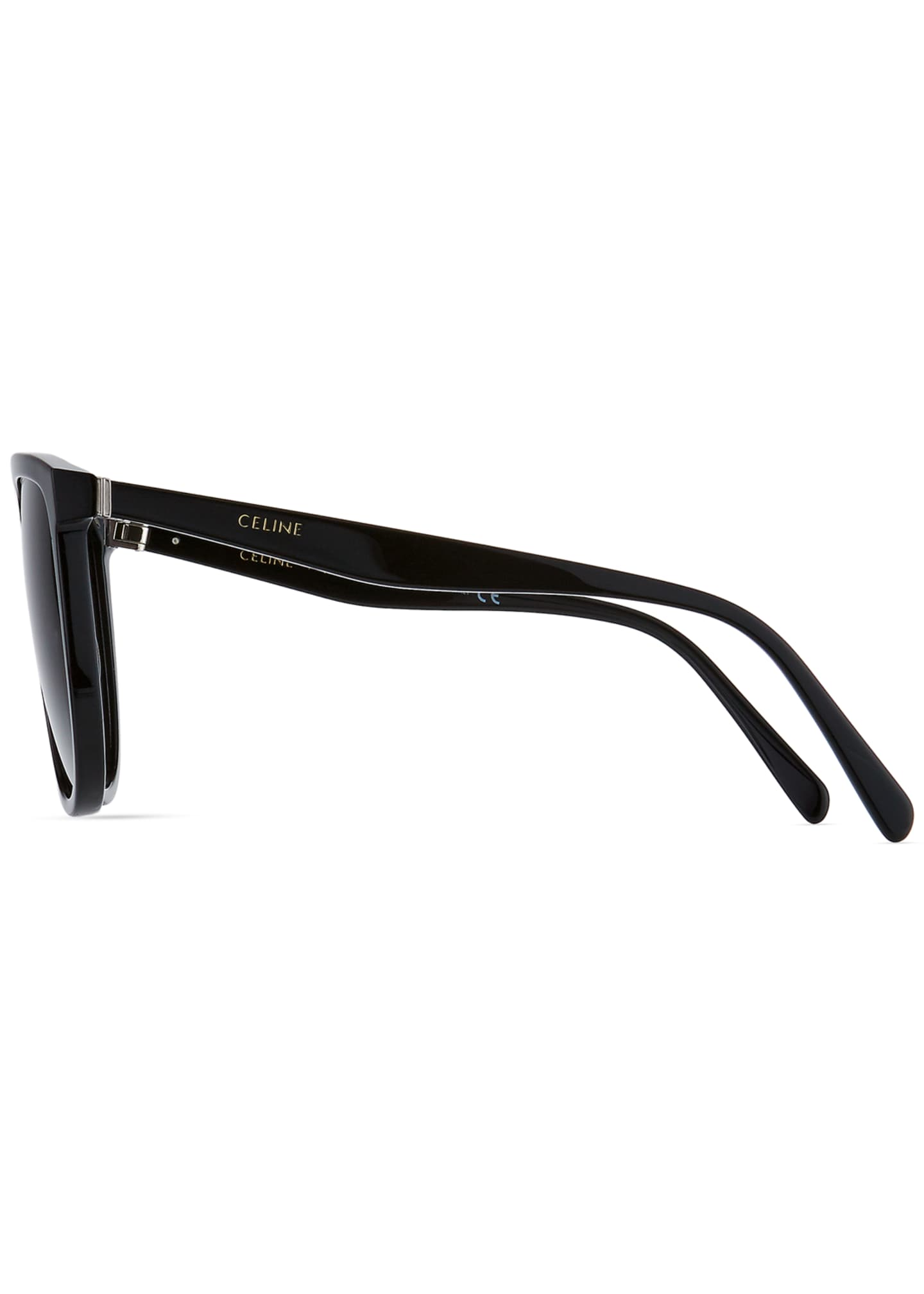Image 3 of 3: Men's Flattop Gradient Shield Sunglasses