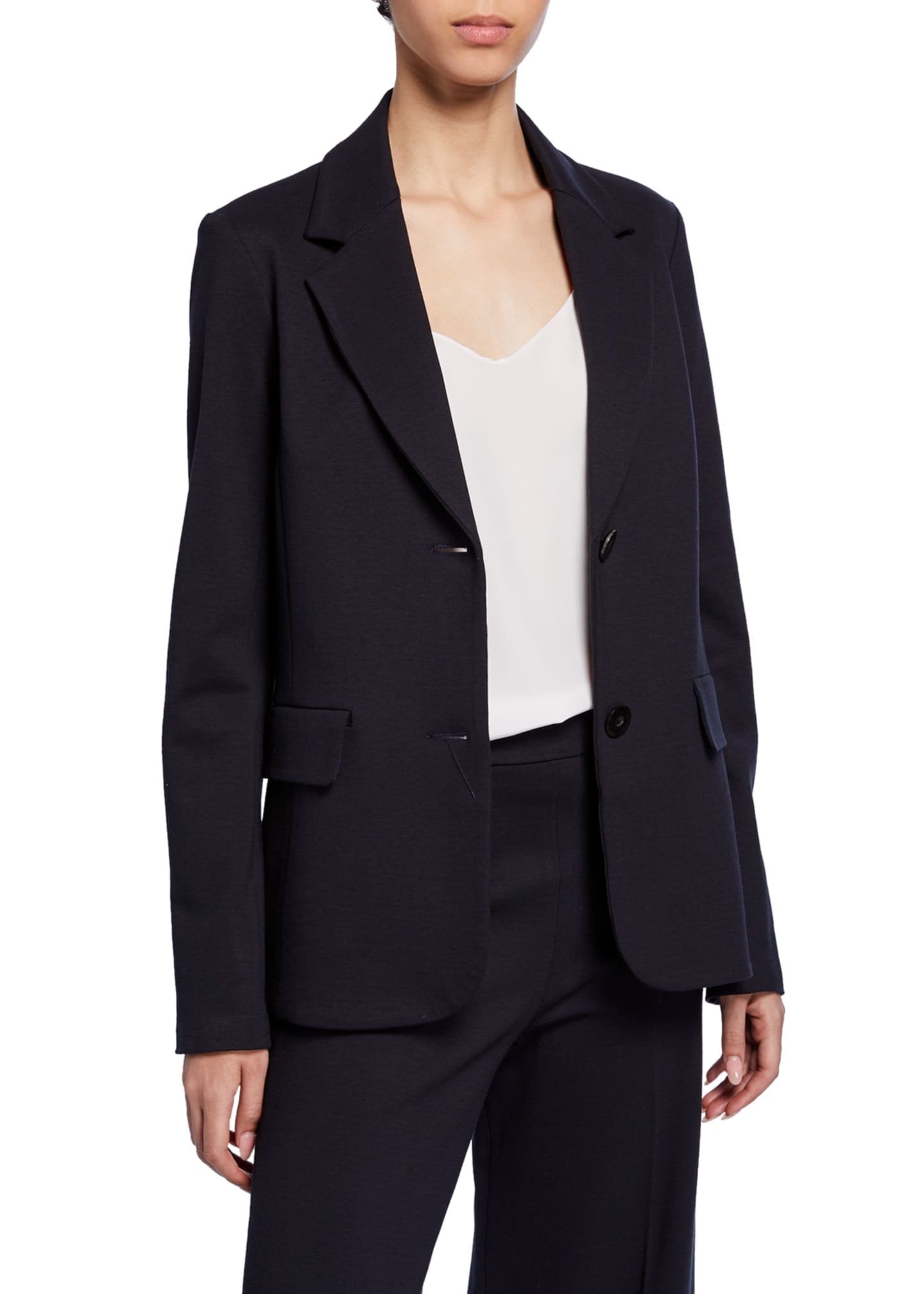 Image 2 of 3: Fitted Wool Crepe Jacket