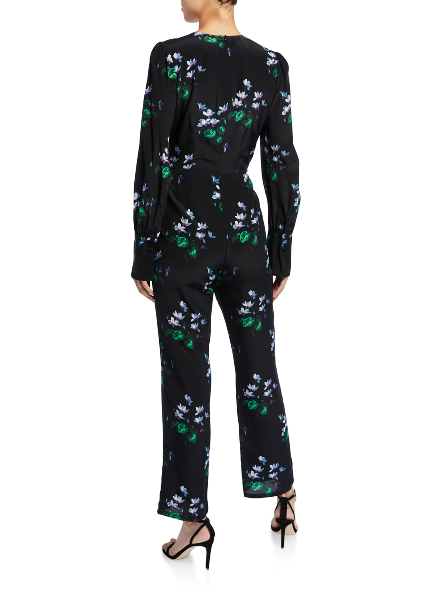 Image 2 of 2: Floral Wrap Jumpsuit