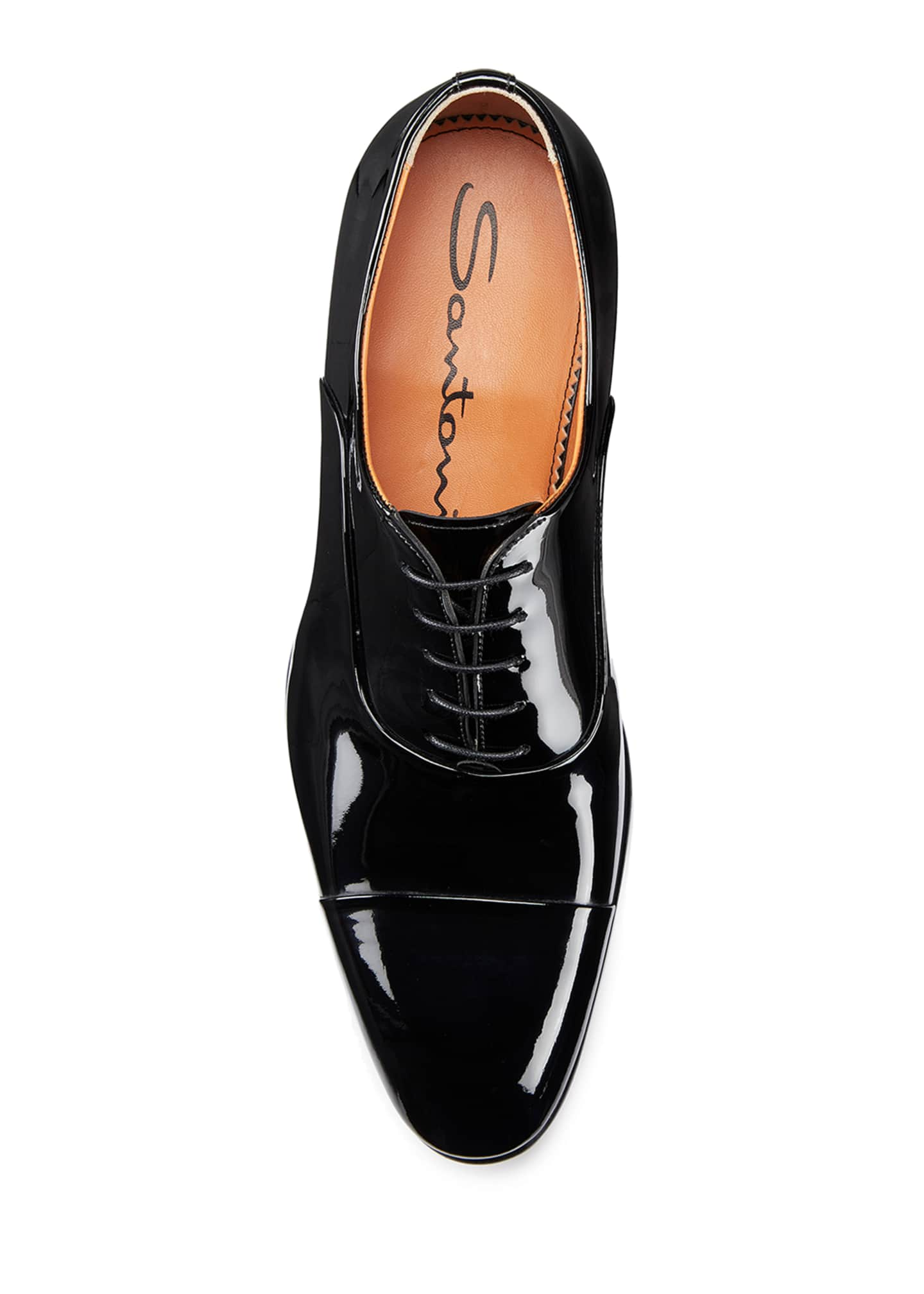 Image 2 of 5: Men's Isaac Patent Leather Lace-Up Shoes