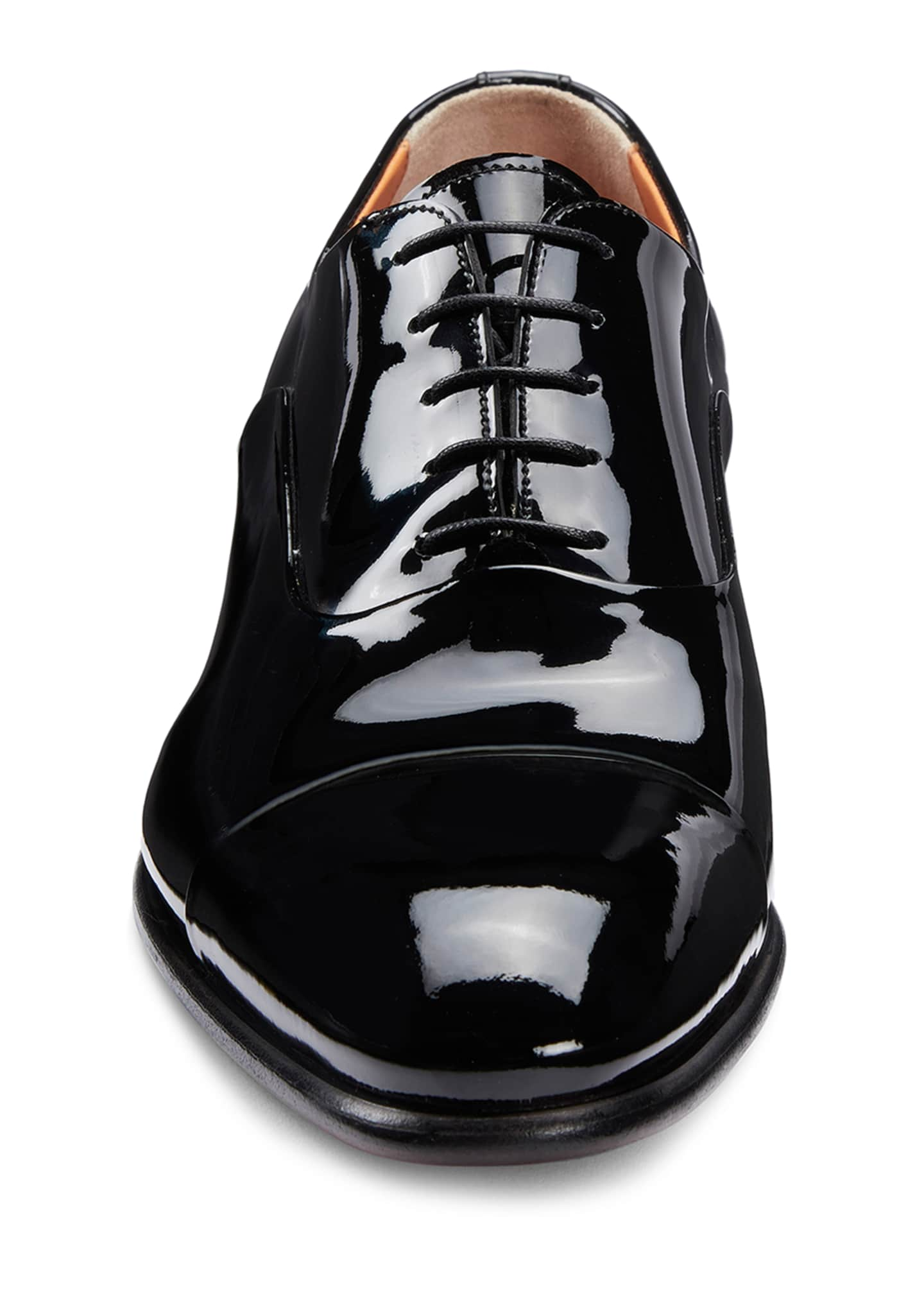 Image 3 of 5: Men's Isaac Patent Leather Lace-Up Shoes