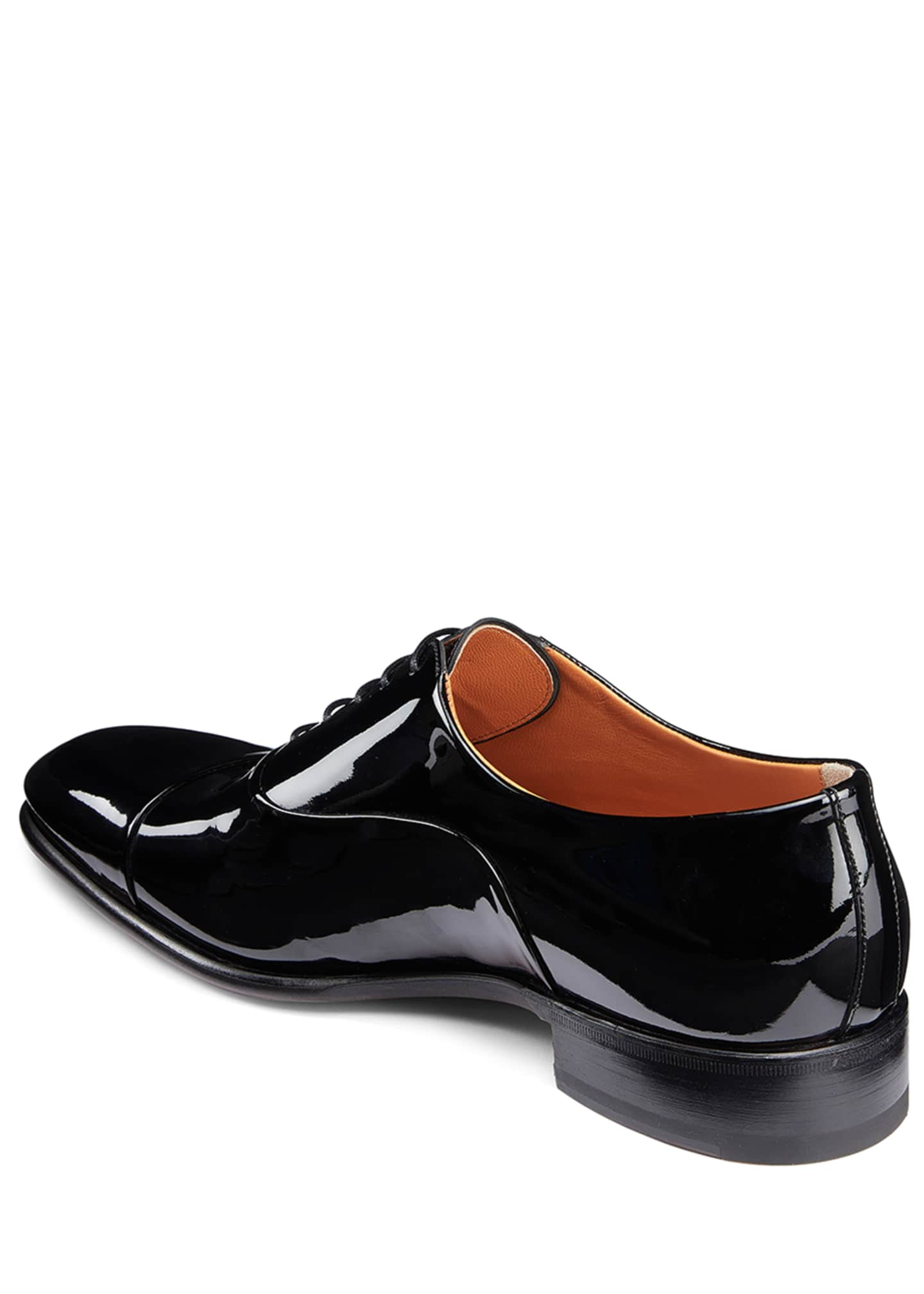 Image 4 of 5: Men's Isaac Patent Leather Lace-Up Shoes