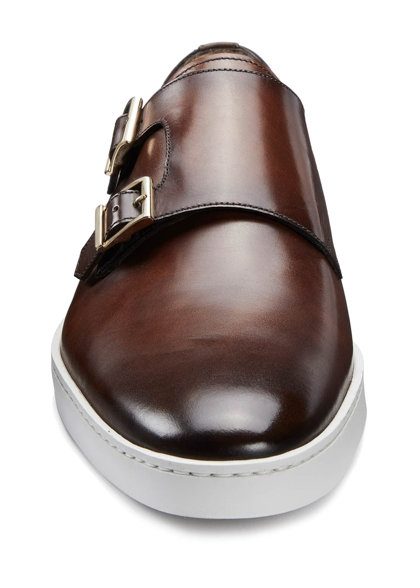 Image 3 of 5: Men's Freemont Double-Monk Leather Sneakers
