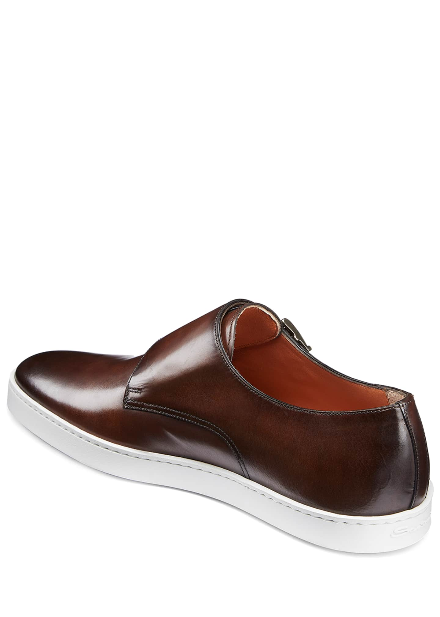 Image 4 of 5: Men's Freemont Double-Monk Leather Sneakers