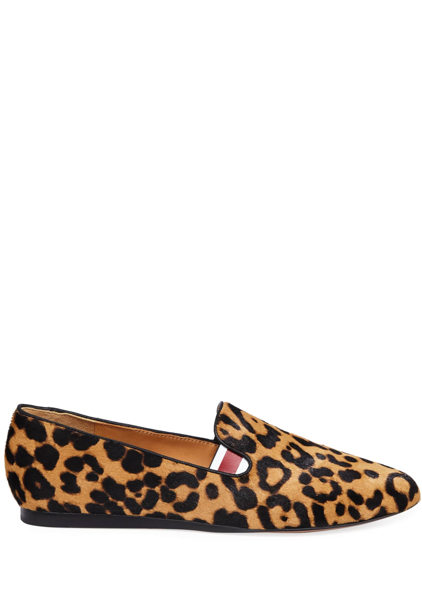 Image 2 of 3: Griffin Leopard Calf Hair Loafers
