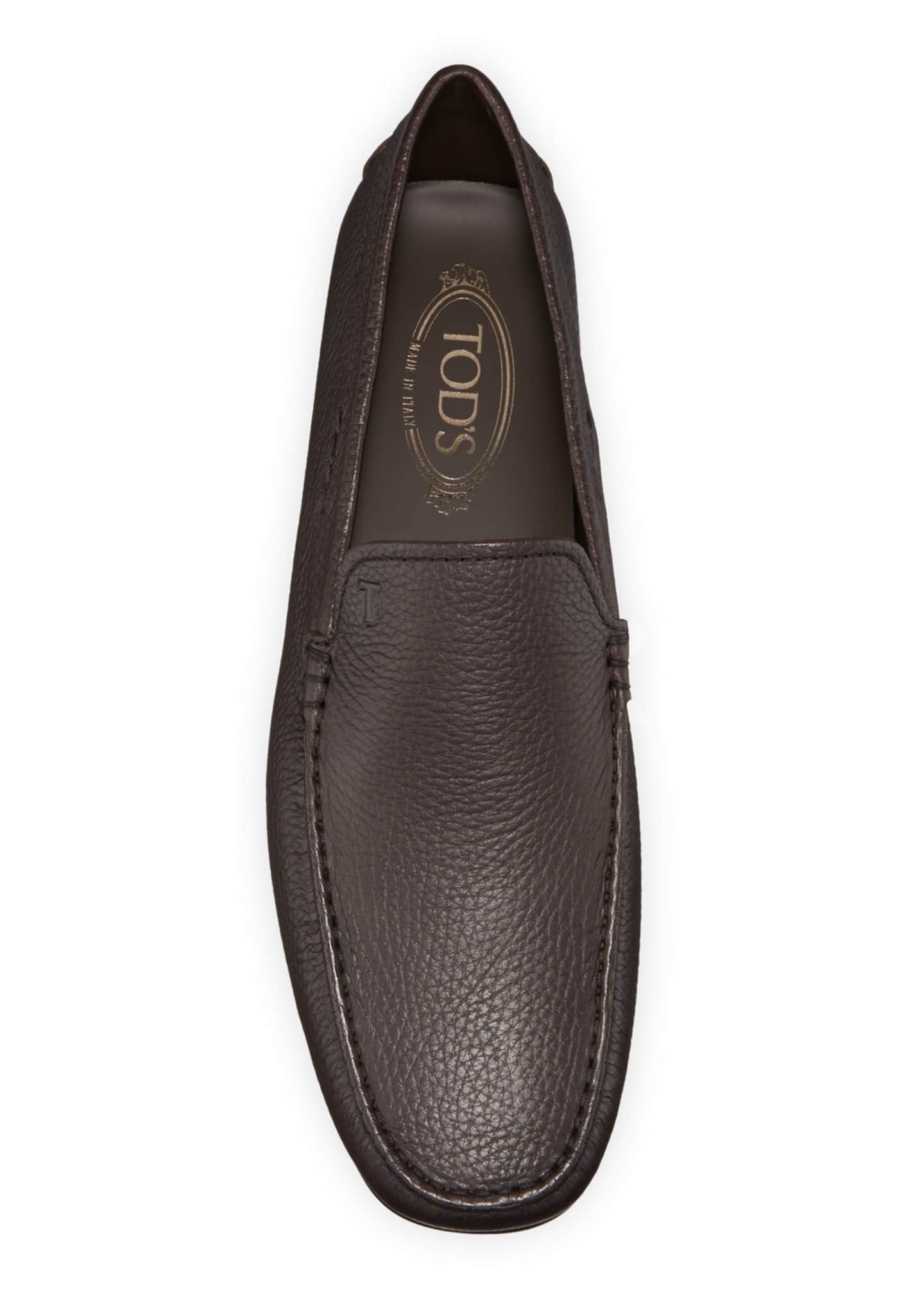 Image 2 of 3: Men's City Leather Moc-Toe Driver Shoes