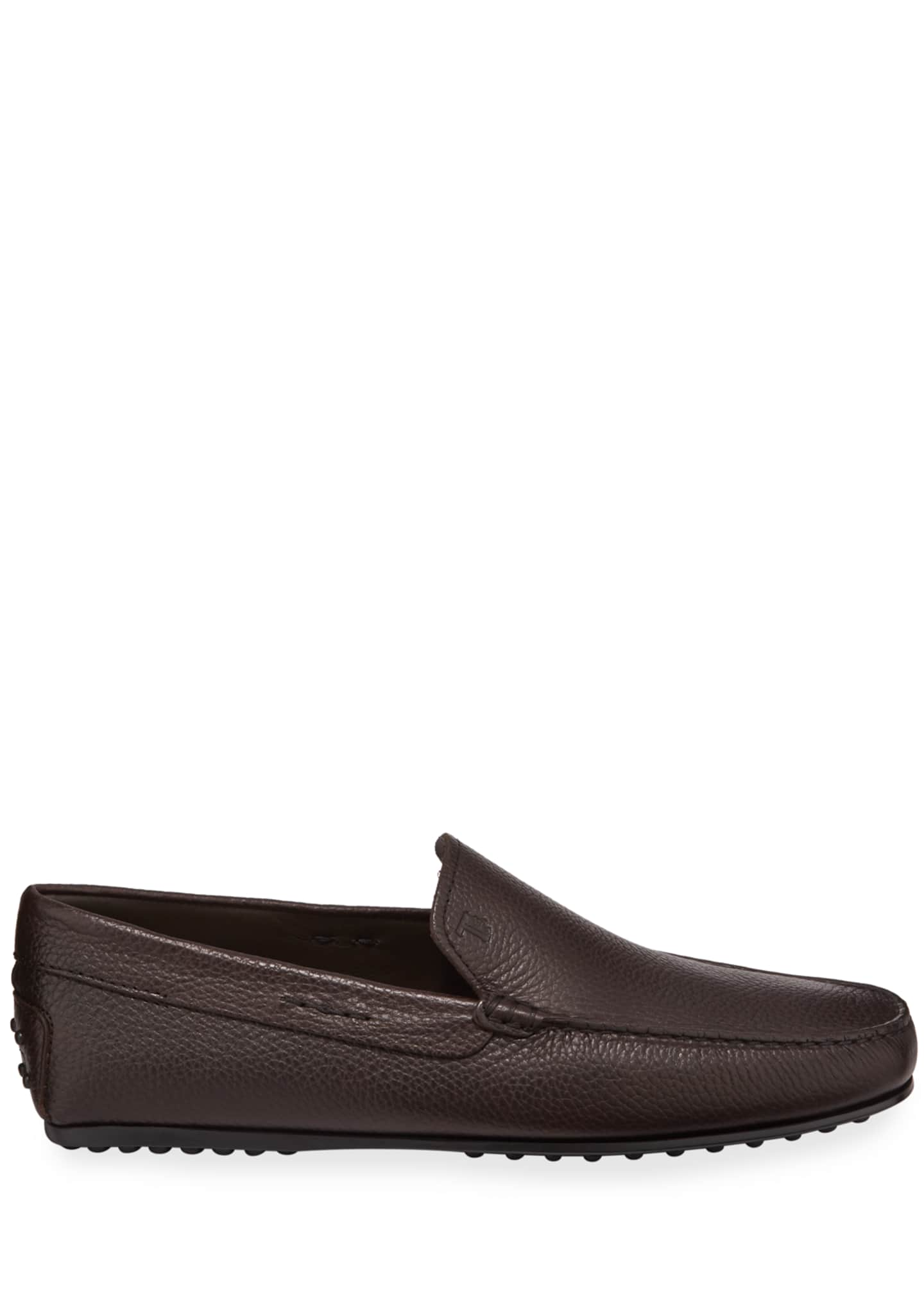 Image 3 of 3: Men's City Leather Moc-Toe Driver Shoes