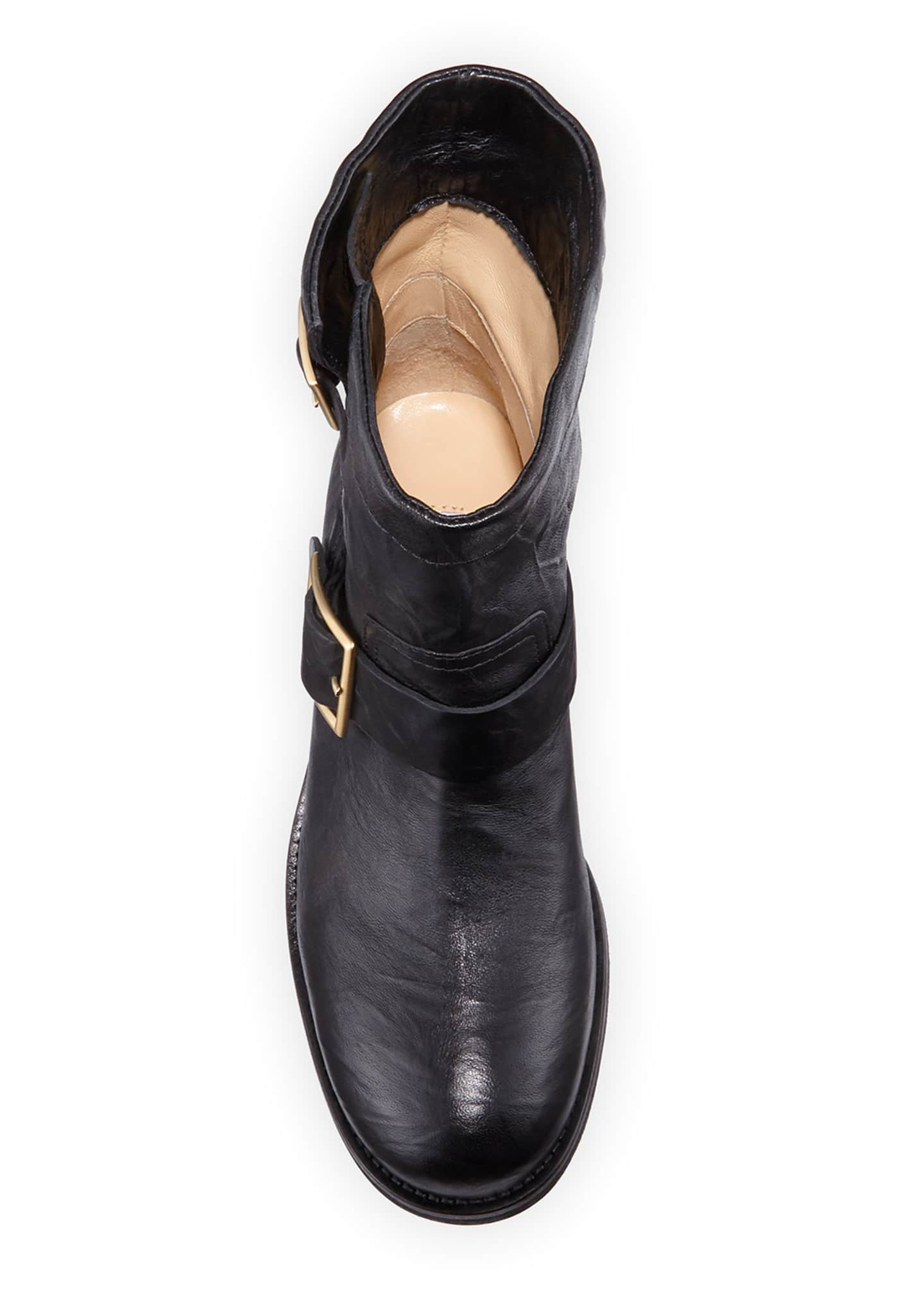 Image 3 of 3: Youth Leather Biker Boots