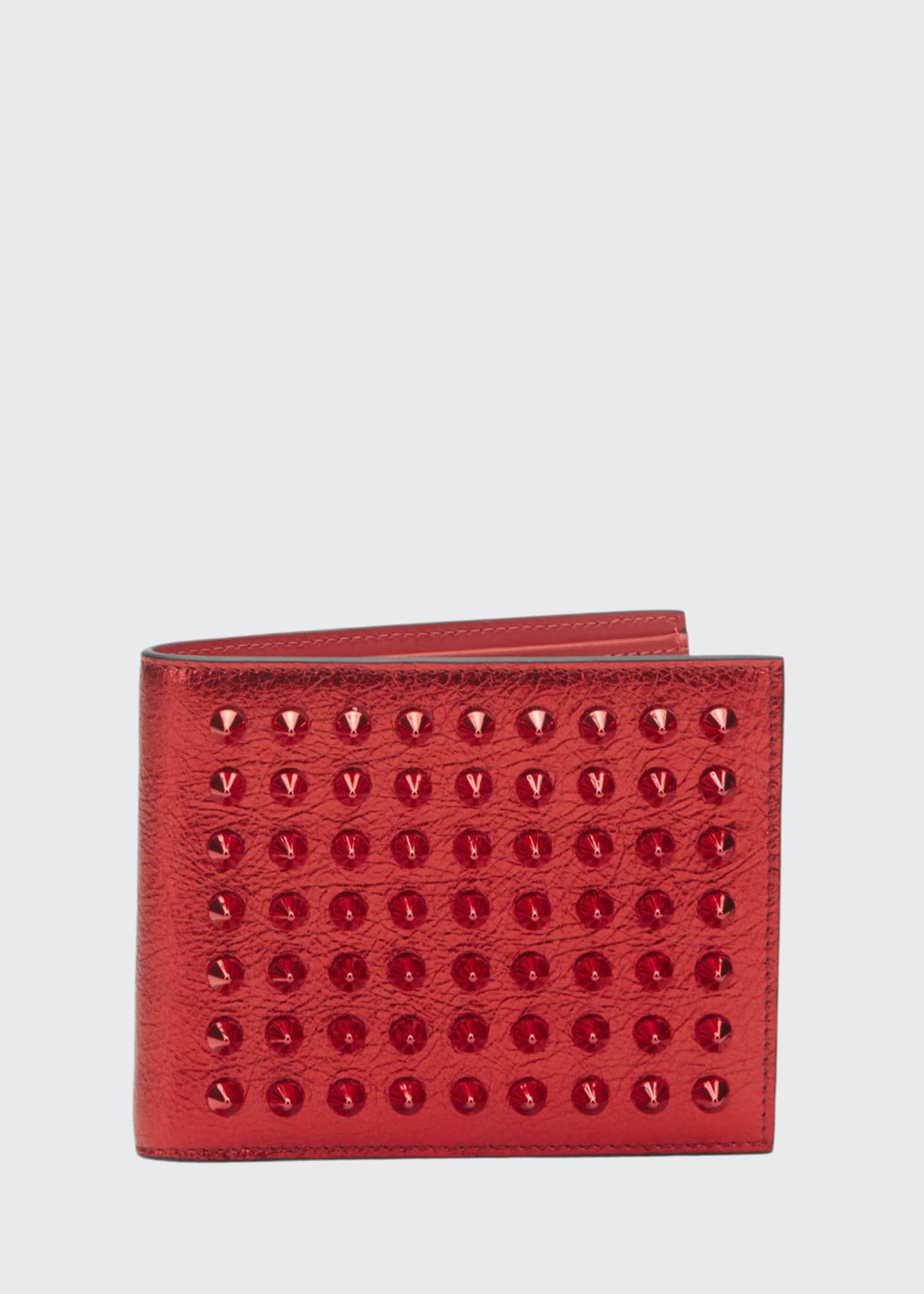 Christian Louboutin Men's Coolcard Studded Bifold Wallet