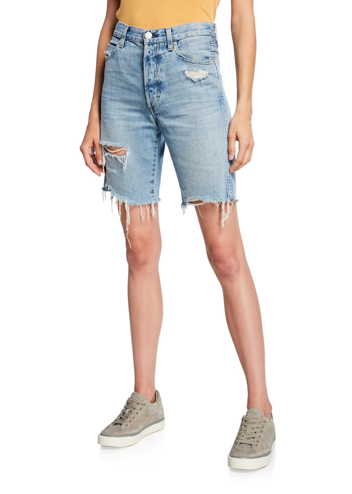 AMO Denim Loverboy Long Cutoff Shorts