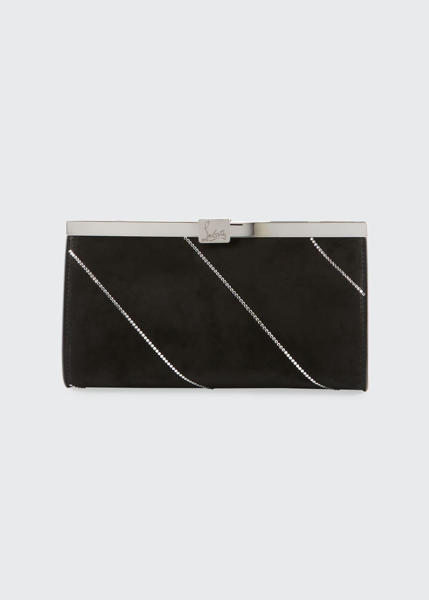 Image 1 of 3: Palmette Small Suede Clutch Bag