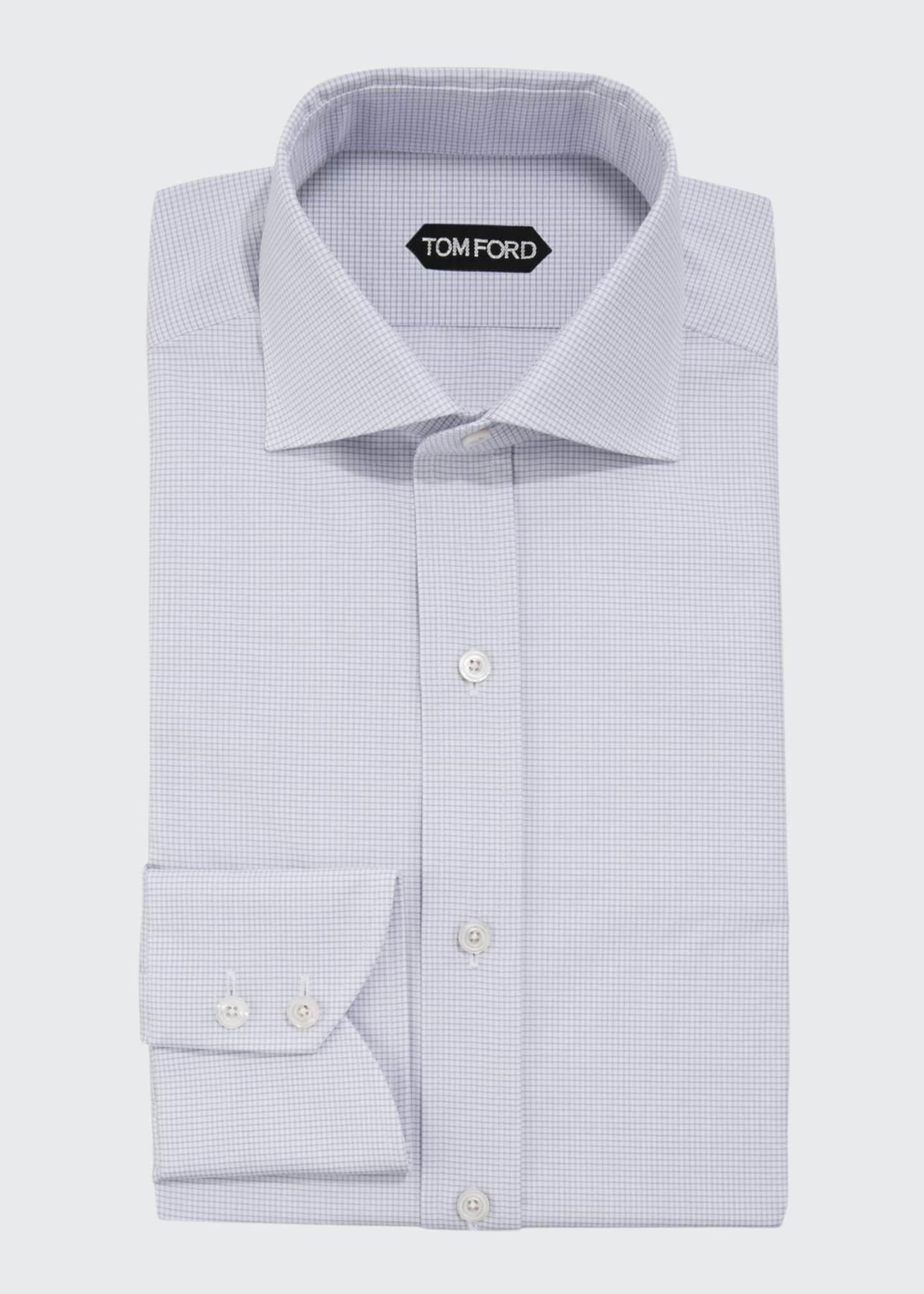 TOM FORD Men's Micro-Check Dress Shirt