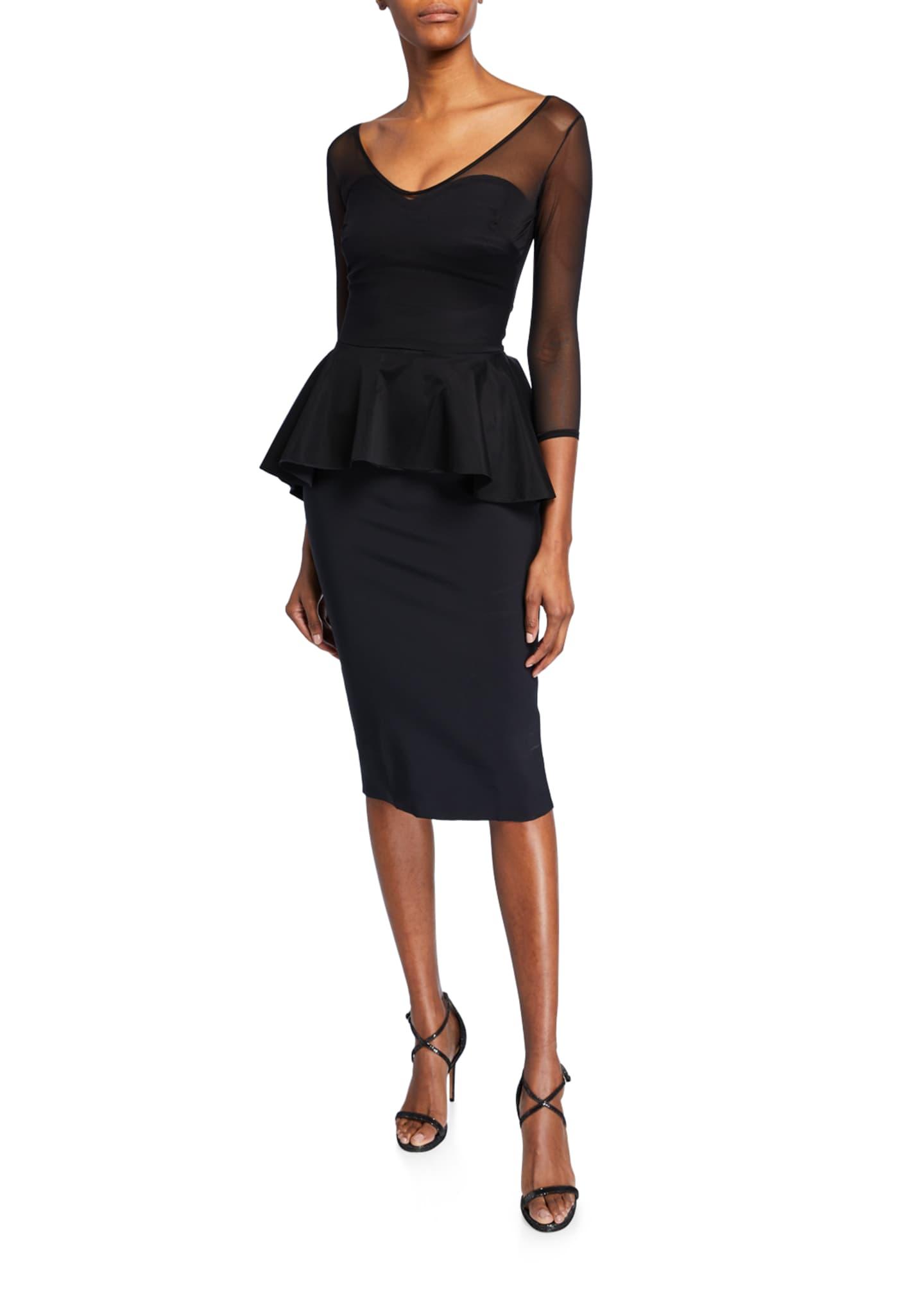 Chiara Boni La Petite Robe Arquette Illusion 3/4-Sleeve