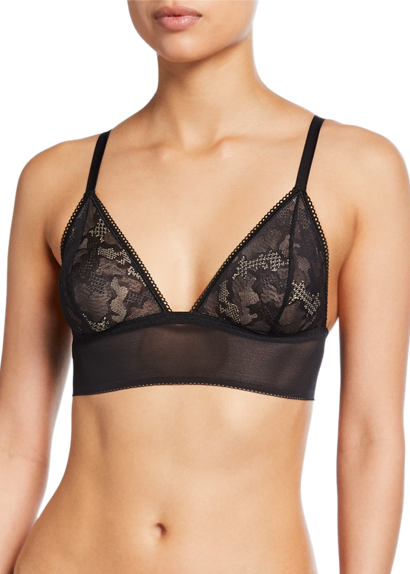 Image 1 of 2: Forza Mesh Triangle Bralette