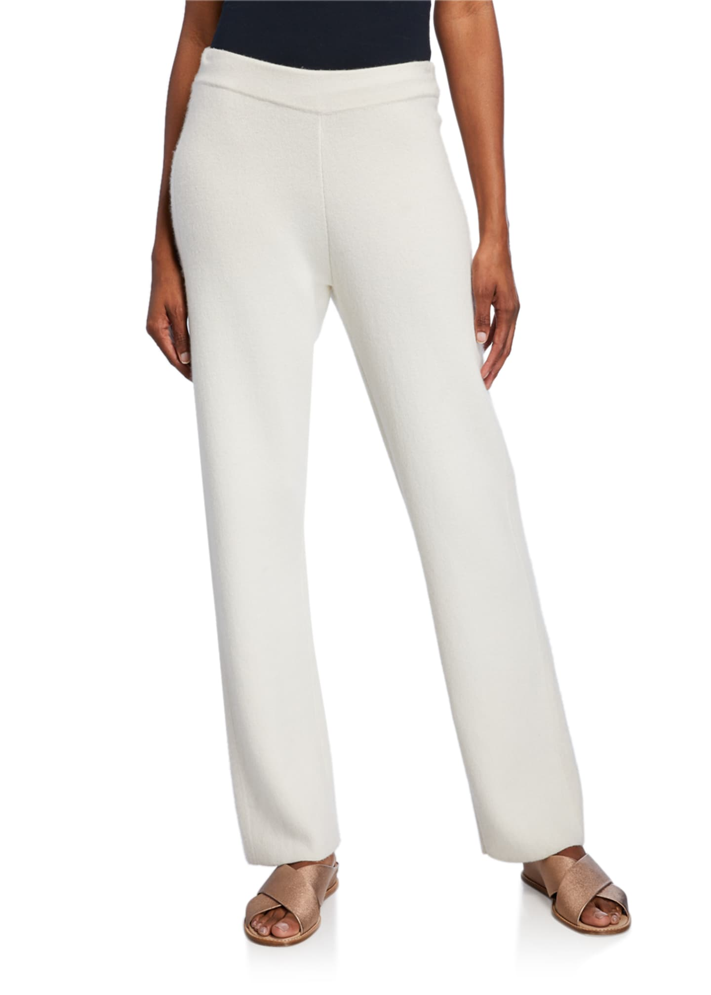 Iris Von Arnim Pegasus Double-Face Straight-Leg Pants