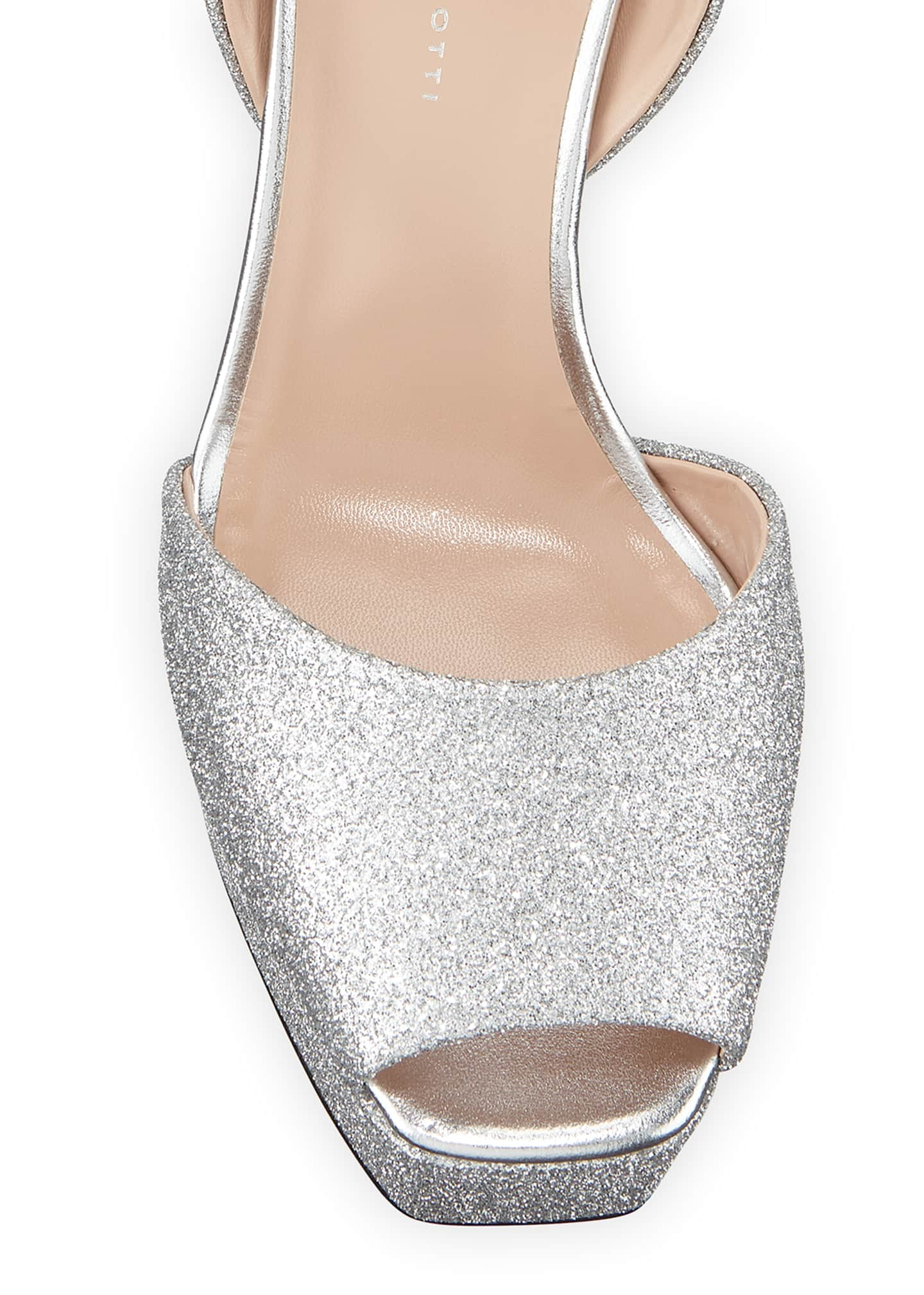 Image 3 of 3: Glittered Ankle-Strap Platform Sandals