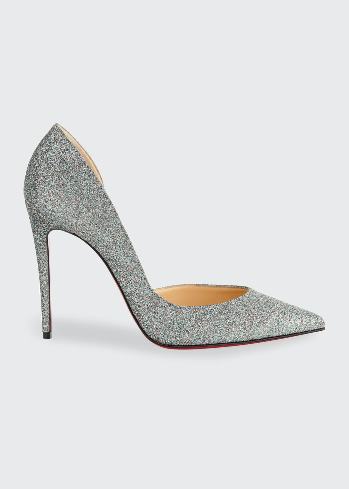 Image 1 of 2: Iriza 100mm Glitter Red Sole Pumps