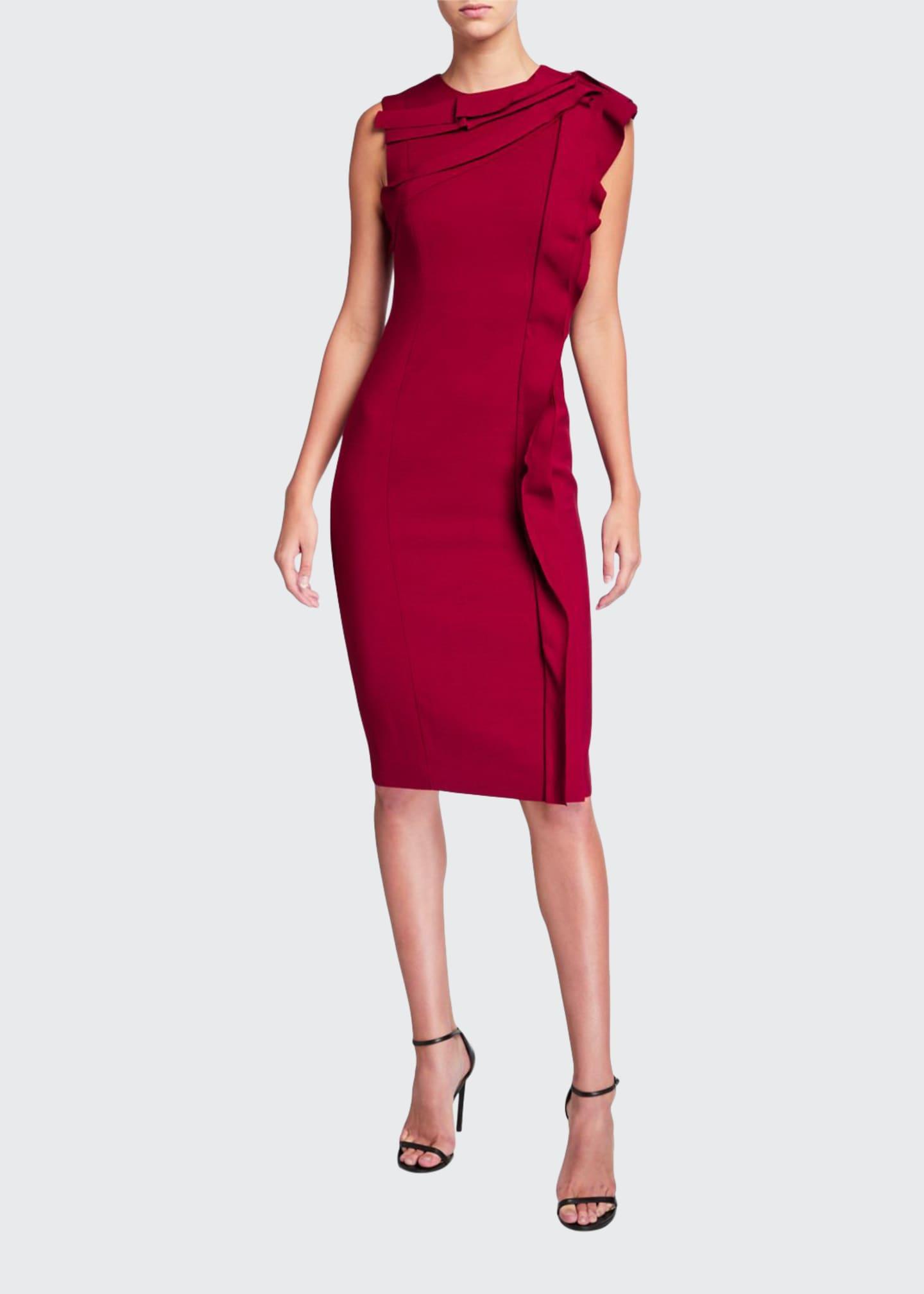 Jason Wu Collection Stretch Crepe Ruffled Day Dress