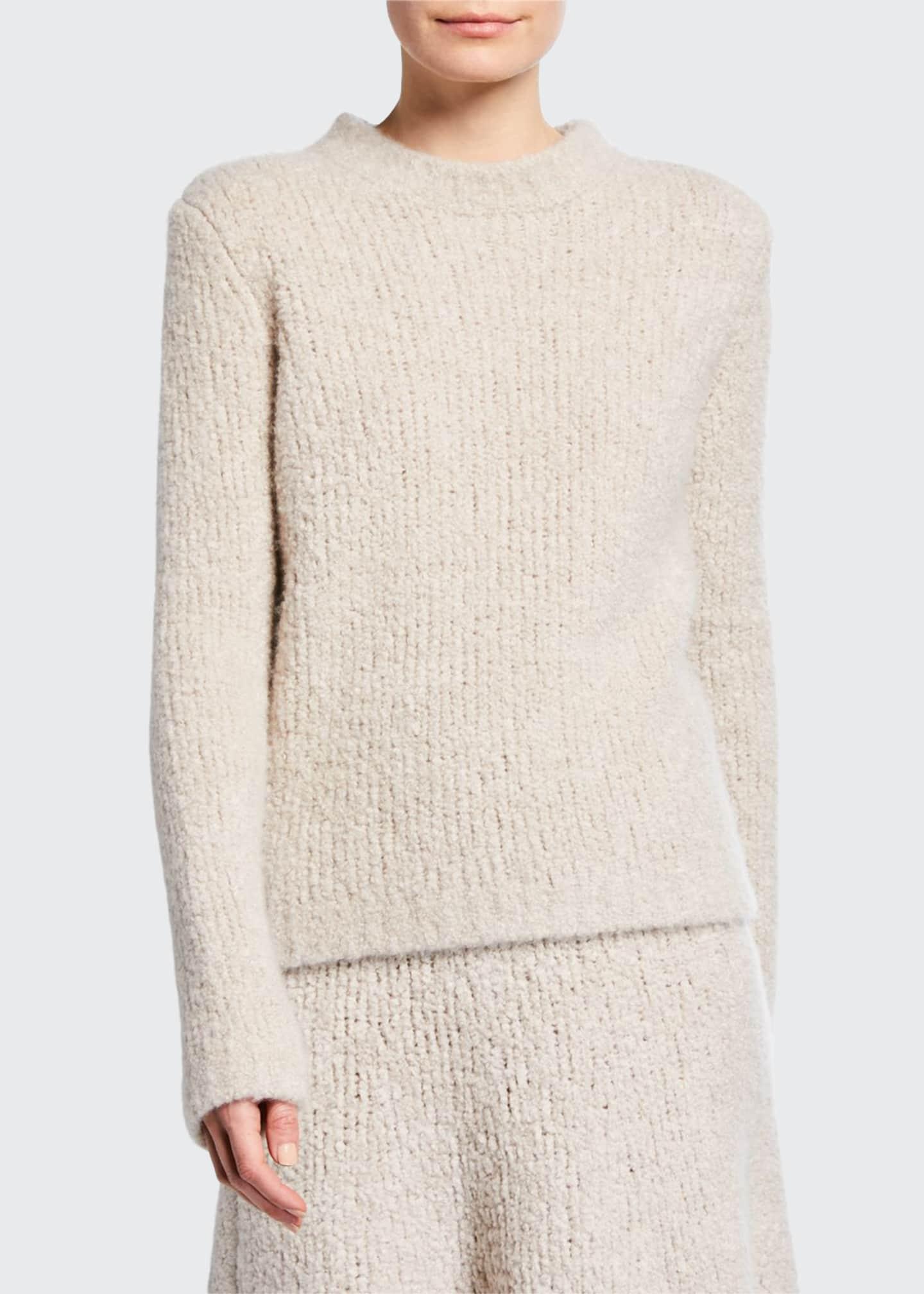 Gabriela Hearst Philippe Crewneck Cashmere Boucle Sweater