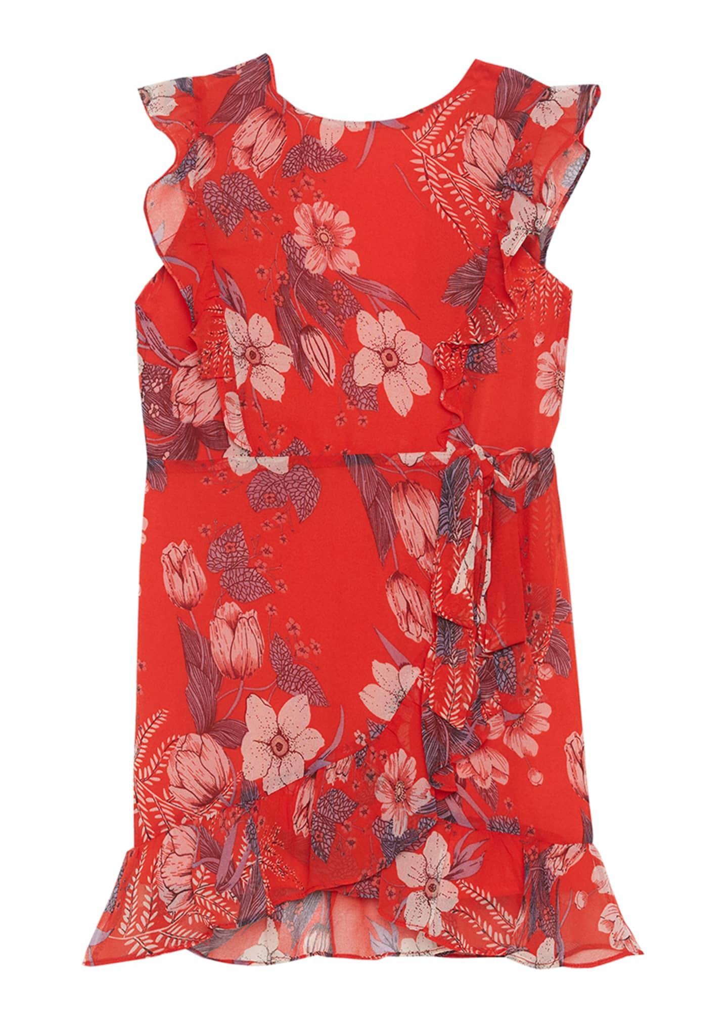 Bardot Junior Enid Floral Wrap Dress, Size 8-16