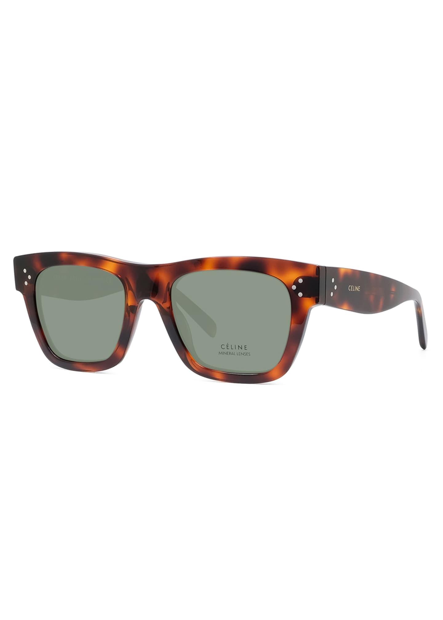 Celine Men's Tortoiseshell Acetate Sunglasses