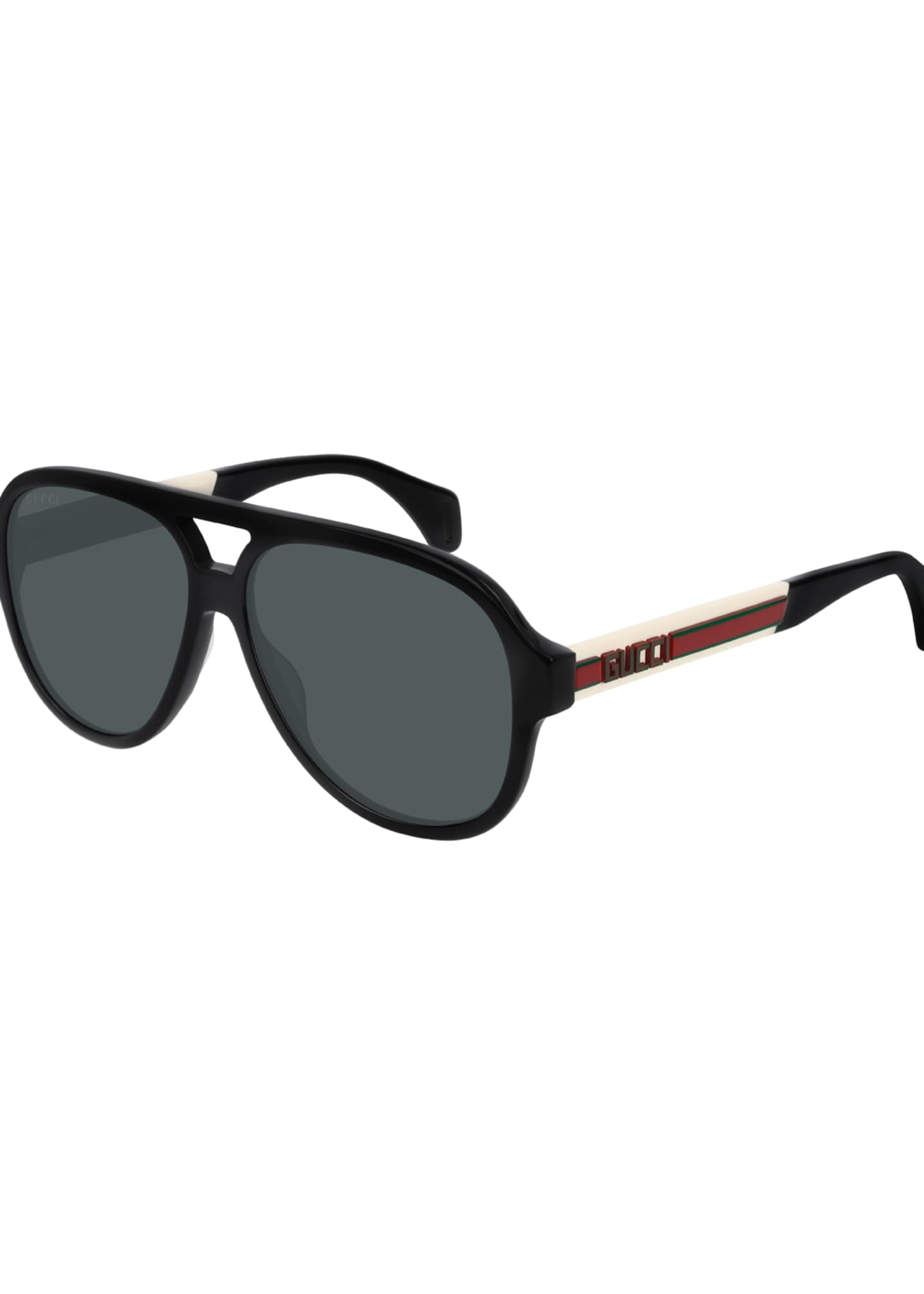 Gucci Men's Polarized Nylon Pilot Sunglasses