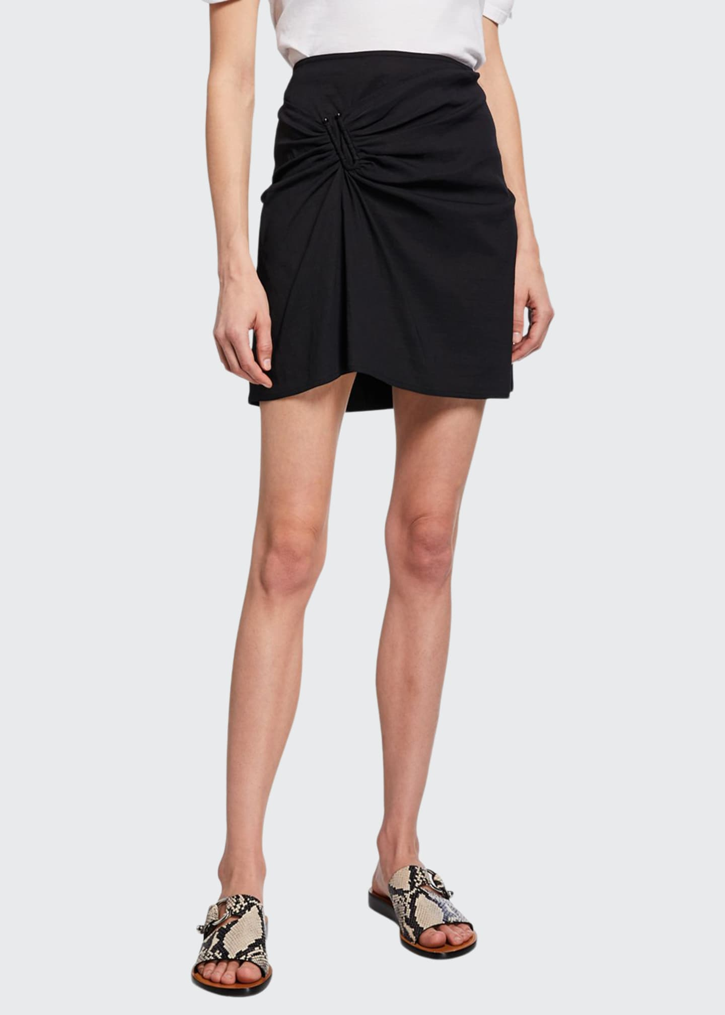 A.L.C. Burke Ruched Mini Skirt