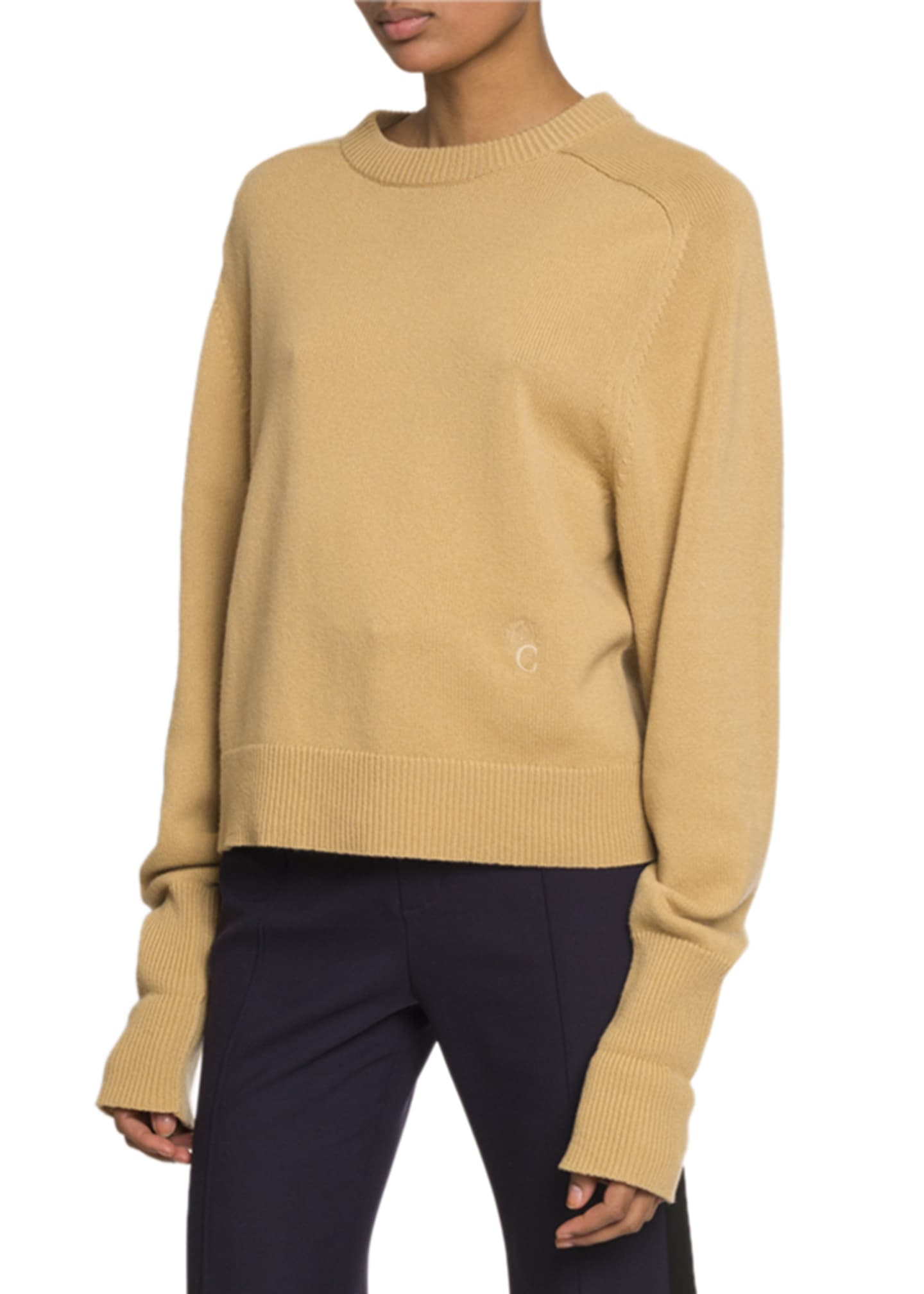 Chloe Long-Sleeve Crewneck Sweater