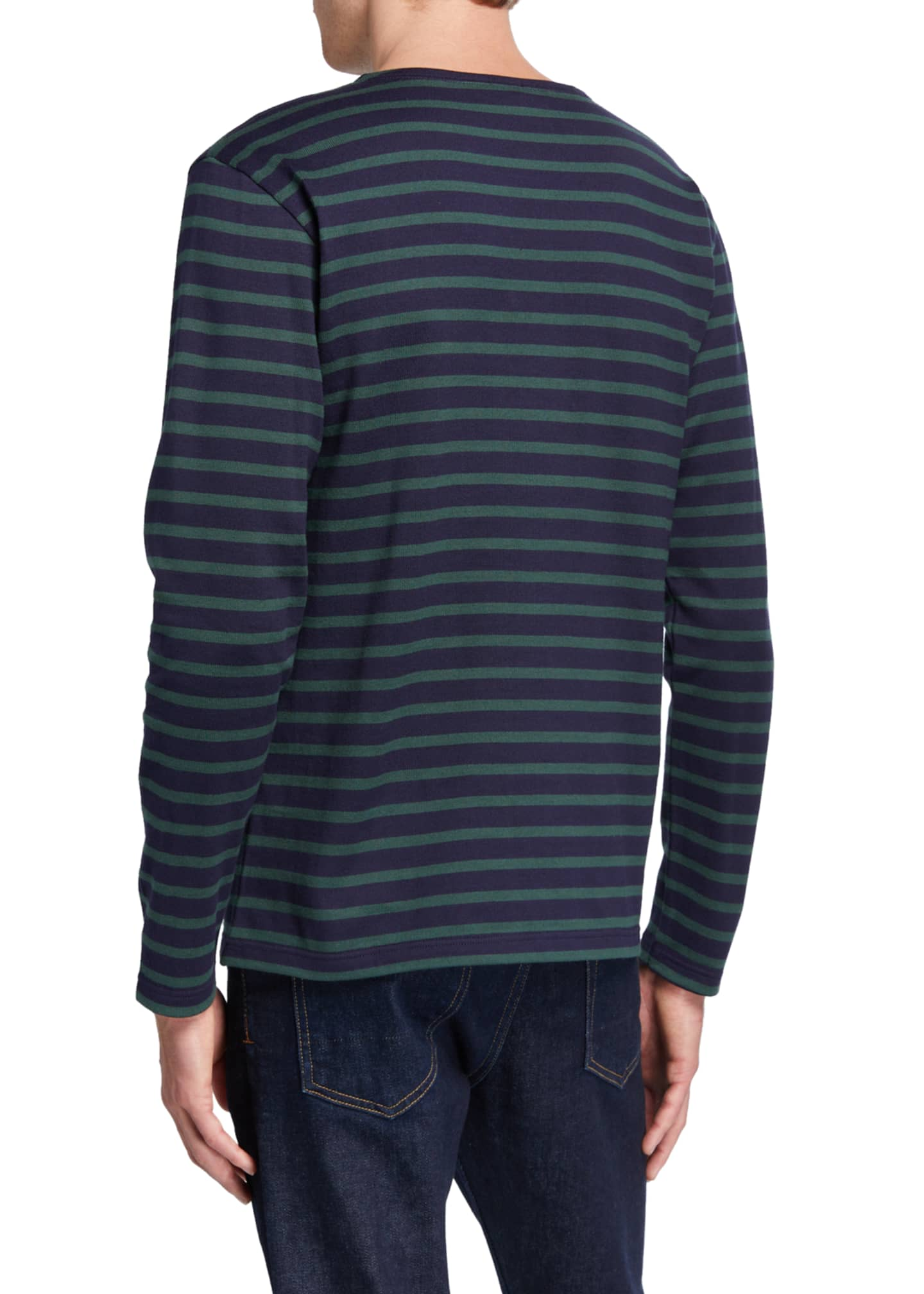 Image 2 of 2: Men's Striped Long-Sleeve T-Shirt