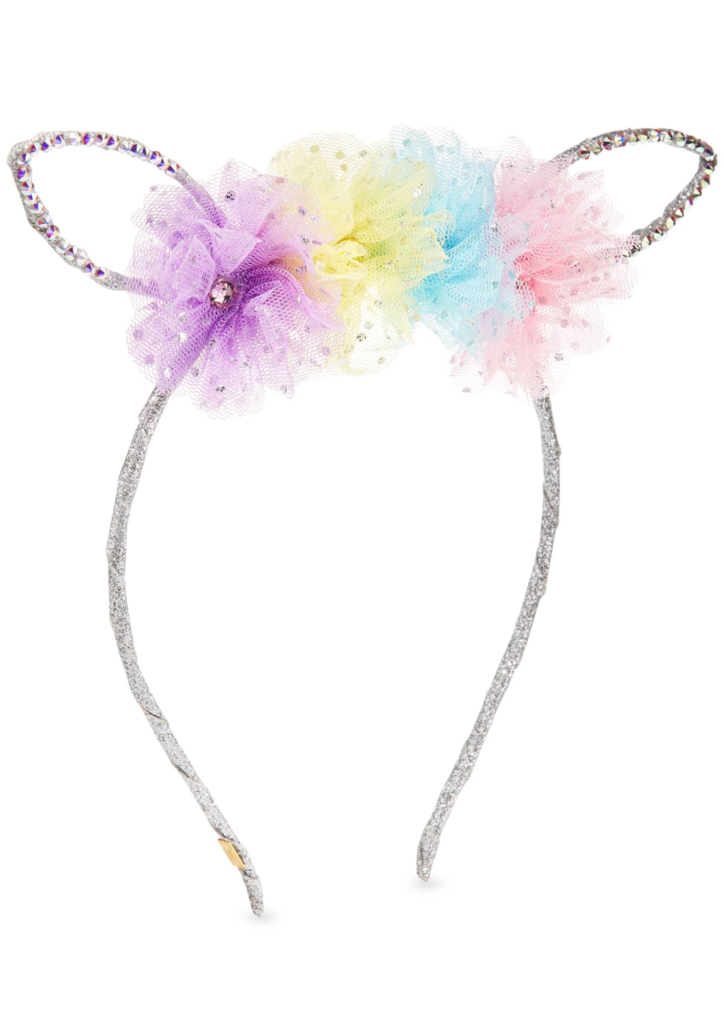 Bari Lynn Girls' Bunny Ear Headband w/ Multicolored