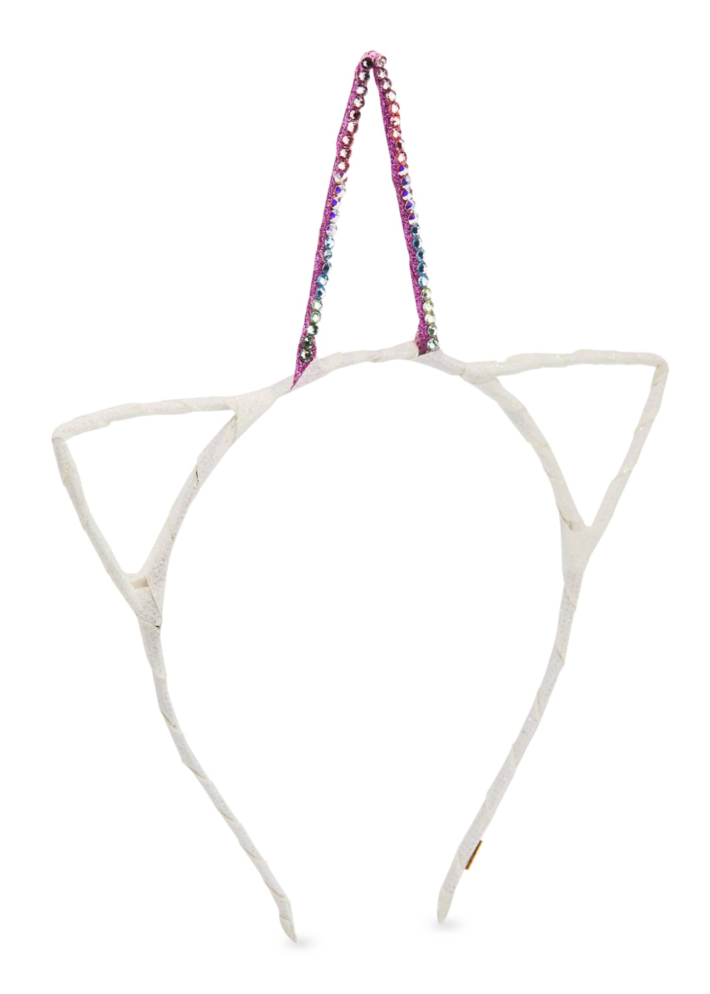 Bari Lynn Girls' Crystal Glitter Unicorn Horn &