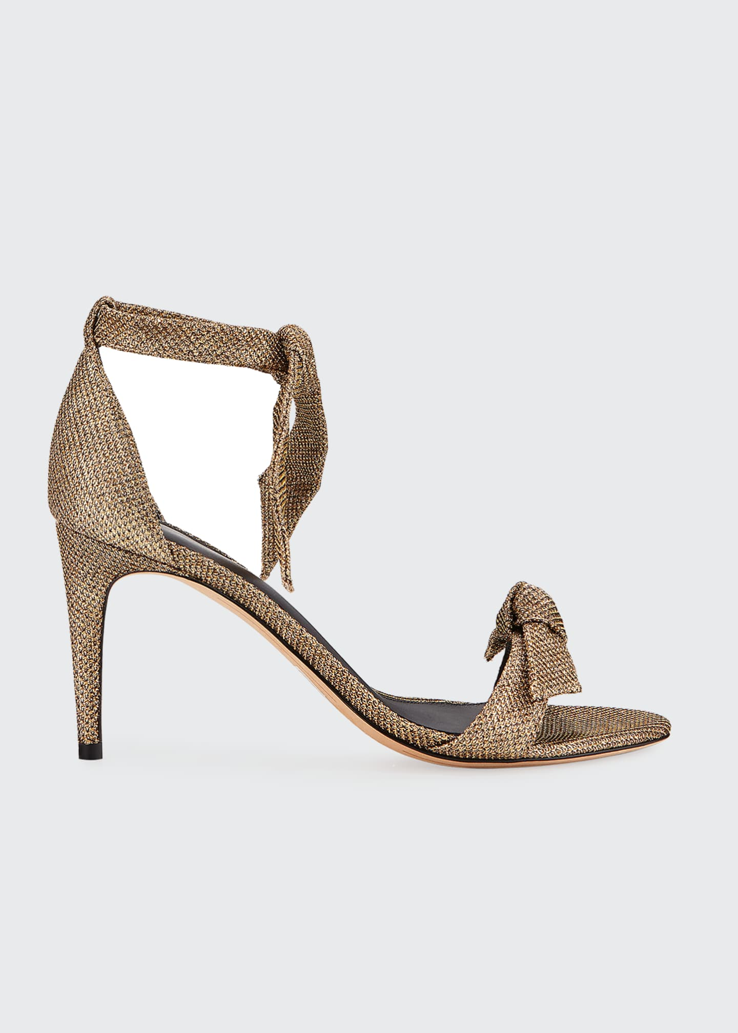 Alexandre Birman Clarita Glittered Mesh Ankle-Tie Sandals