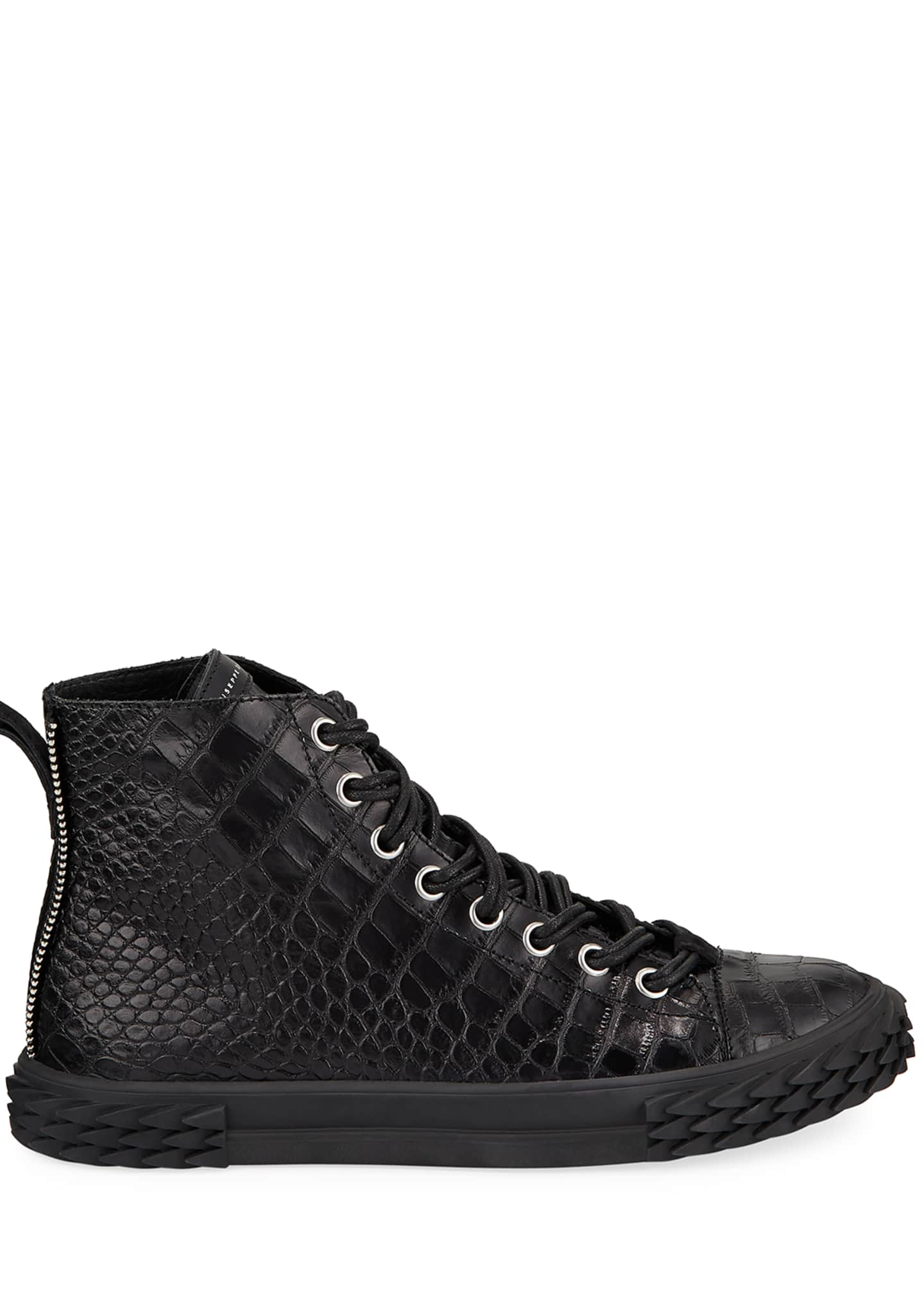Image 3 of 3: Men's Blabber Croc-Embossed High-Top Sneakers