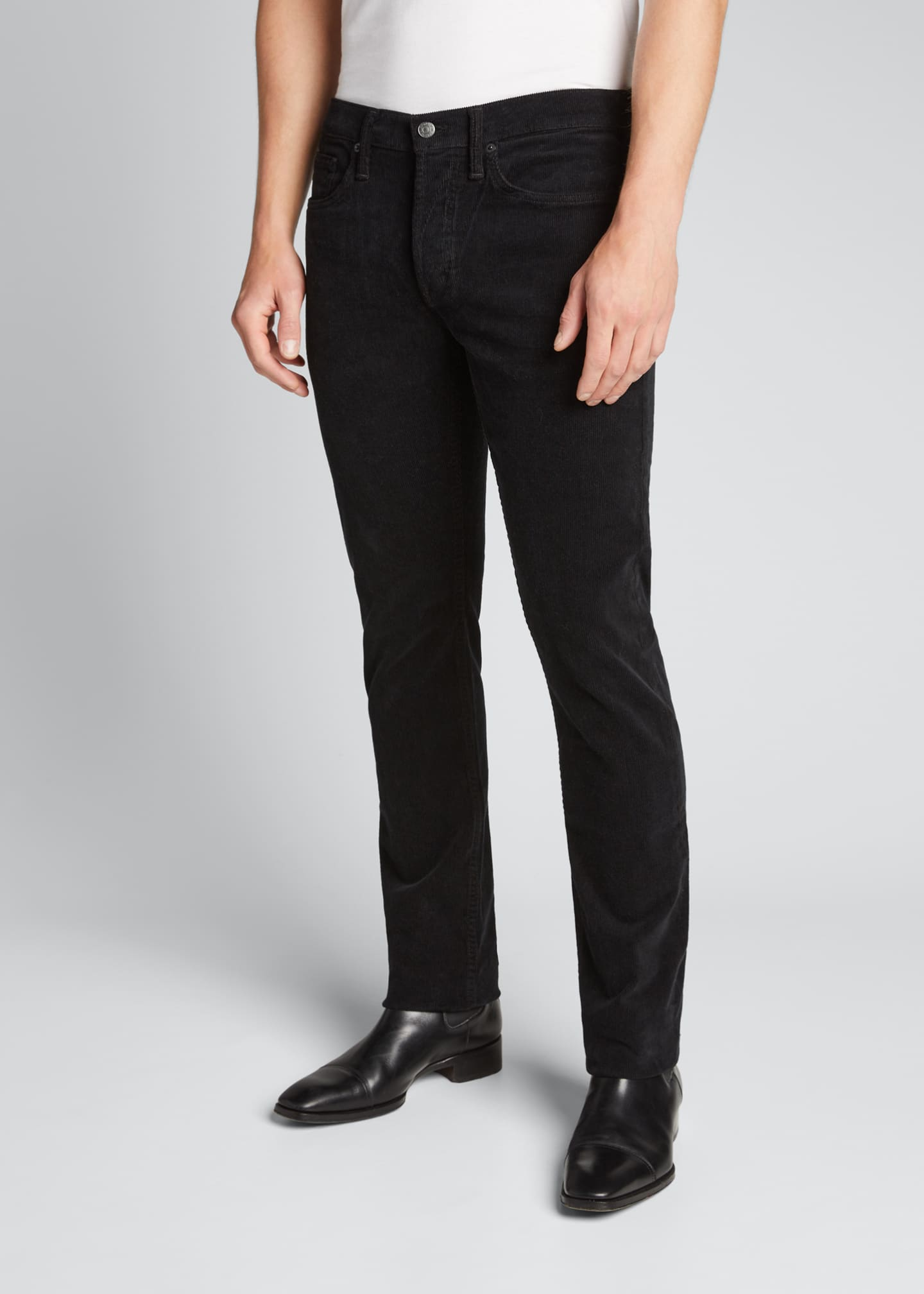 Image 3 of 4: Men's Straight-Leg Corduroy Stretch Pants