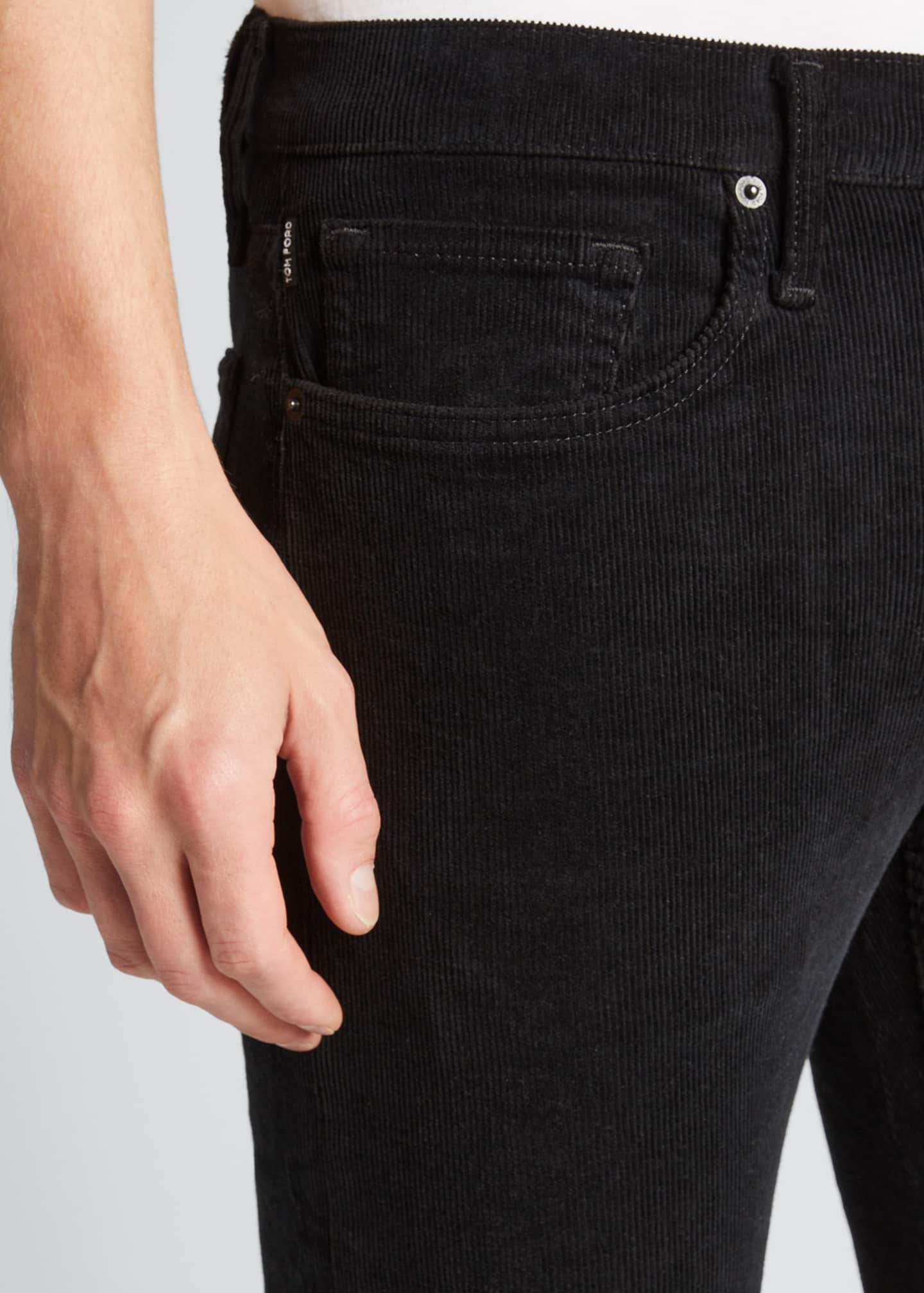 Image 4 of 4: Men's Straight-Leg Corduroy Stretch Pants