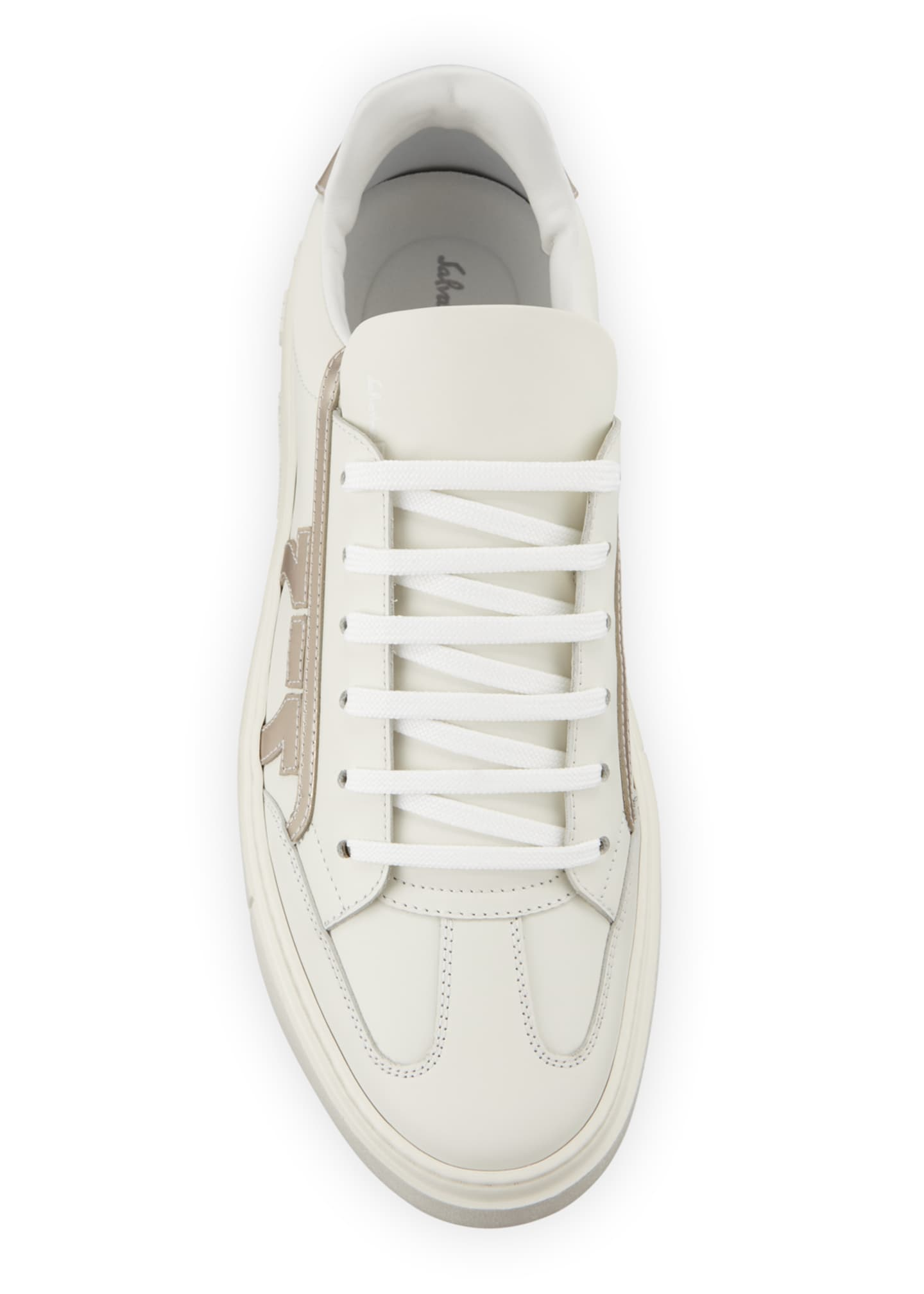 Image 2 of 3: Men's Borg Low-Top Leather Sneakers