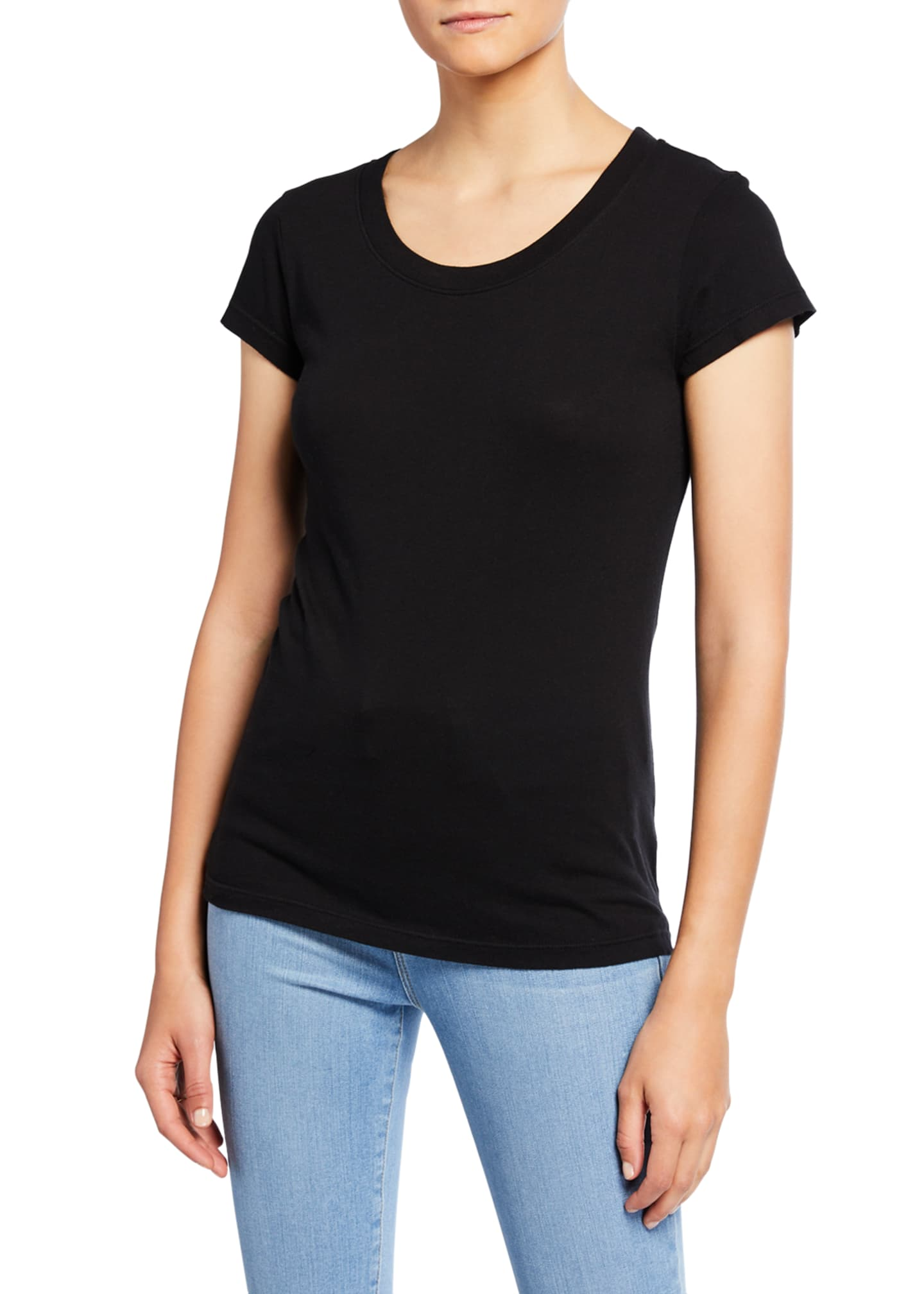Image 2 of 5: Cory Scoop-Neck Tee