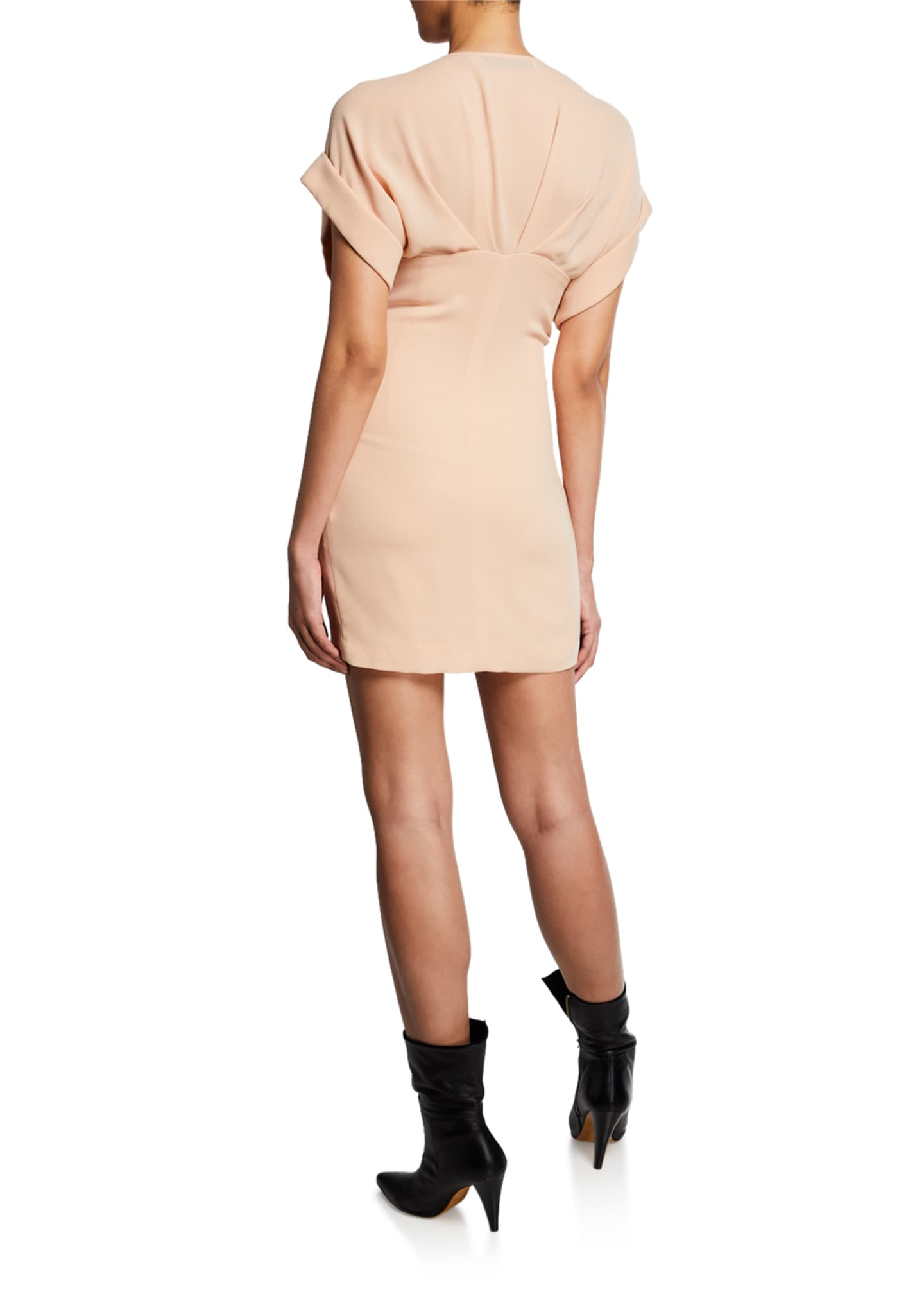 Image 2 of 2: Gastona V-Neck Short-Sleeve Ruched Mini Dress