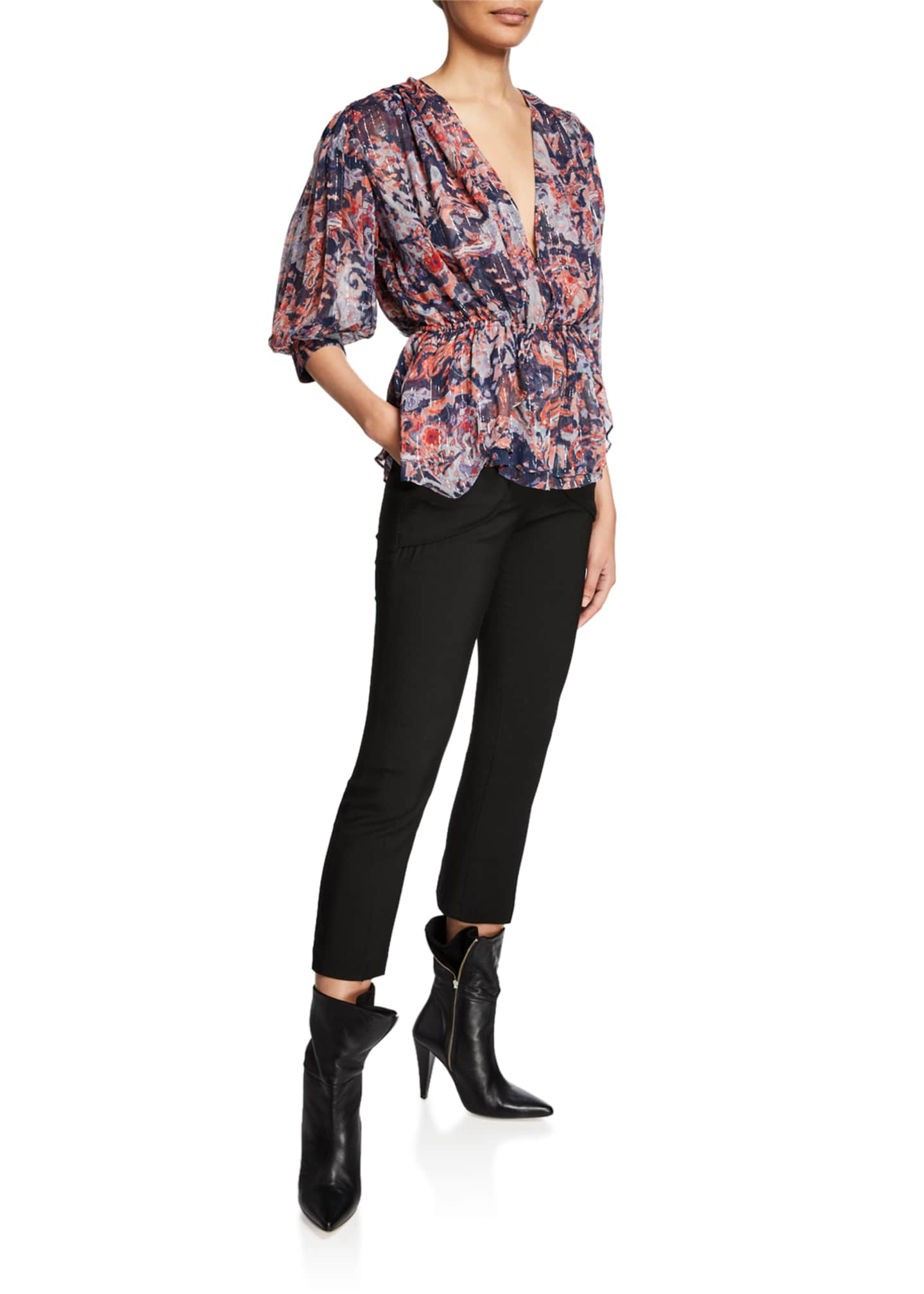 Image 3 of 3: Sauly High-Rise Skinny Pants