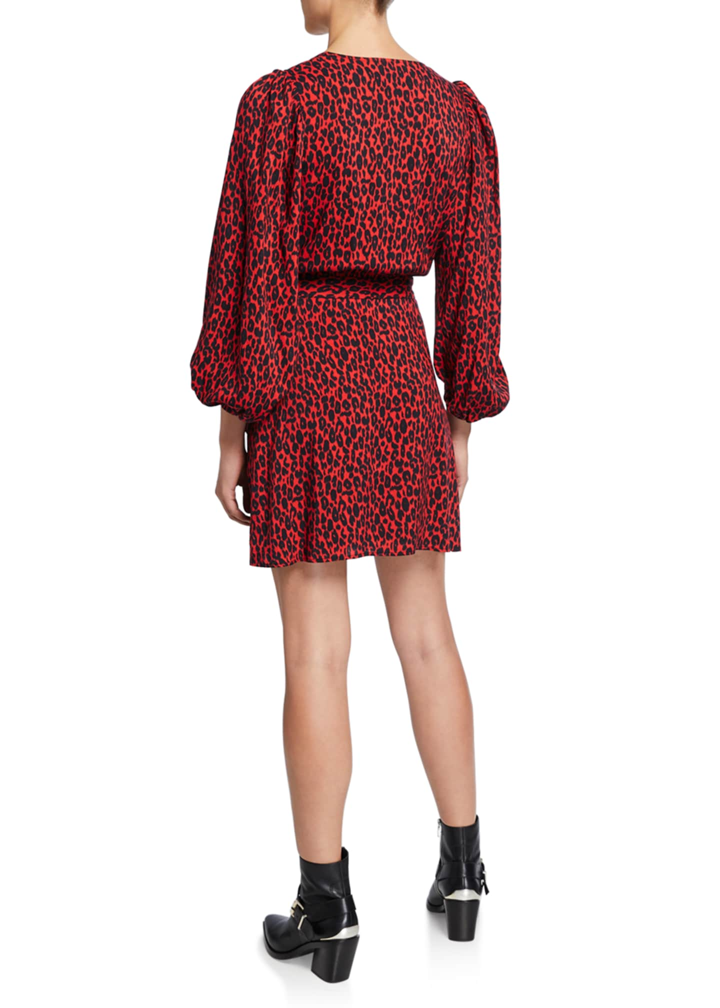Image 2 of 2: Boina Leopard-Print Wrap Dress