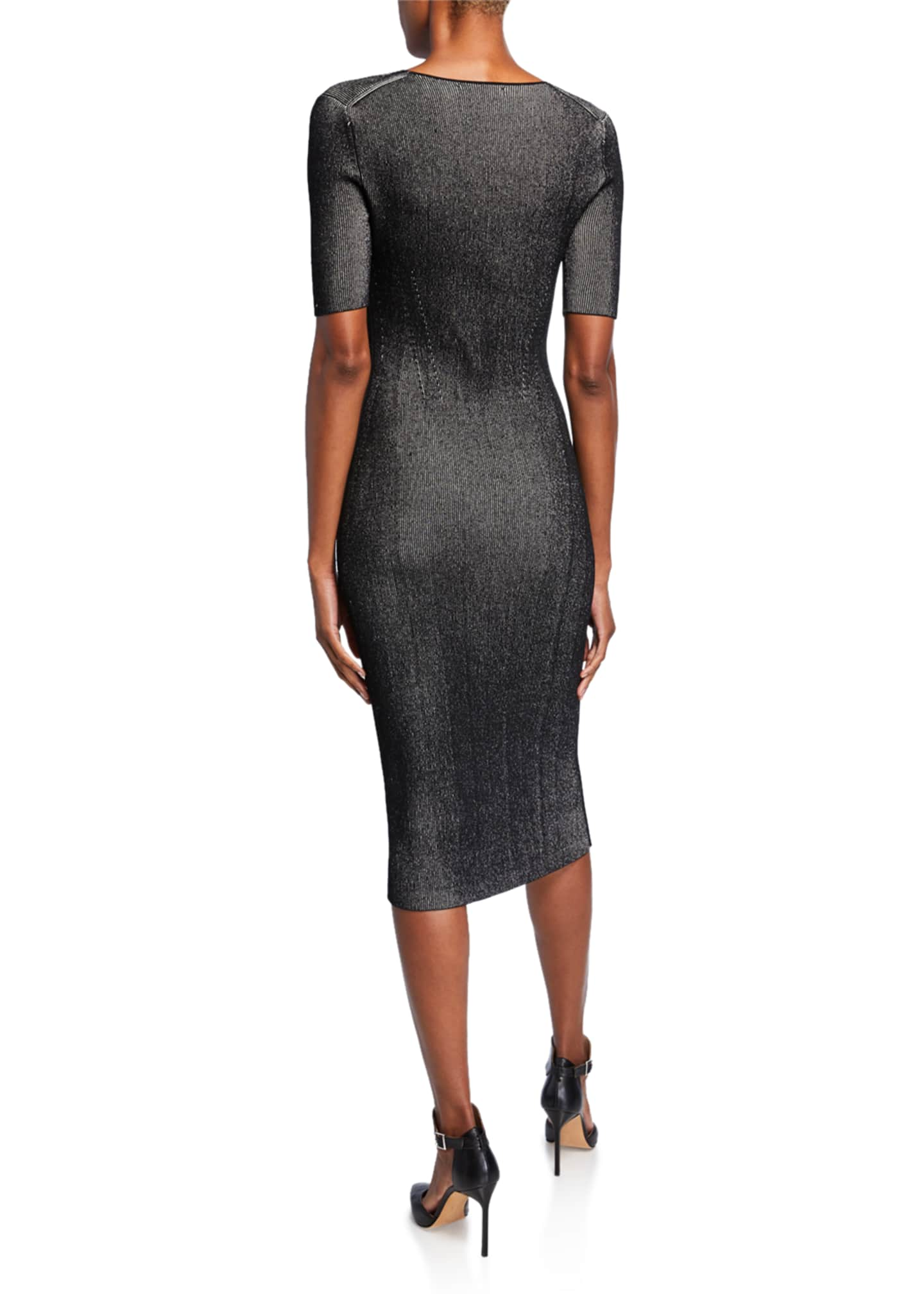 Image 2 of 2: Ribbed Compact Knit Dress