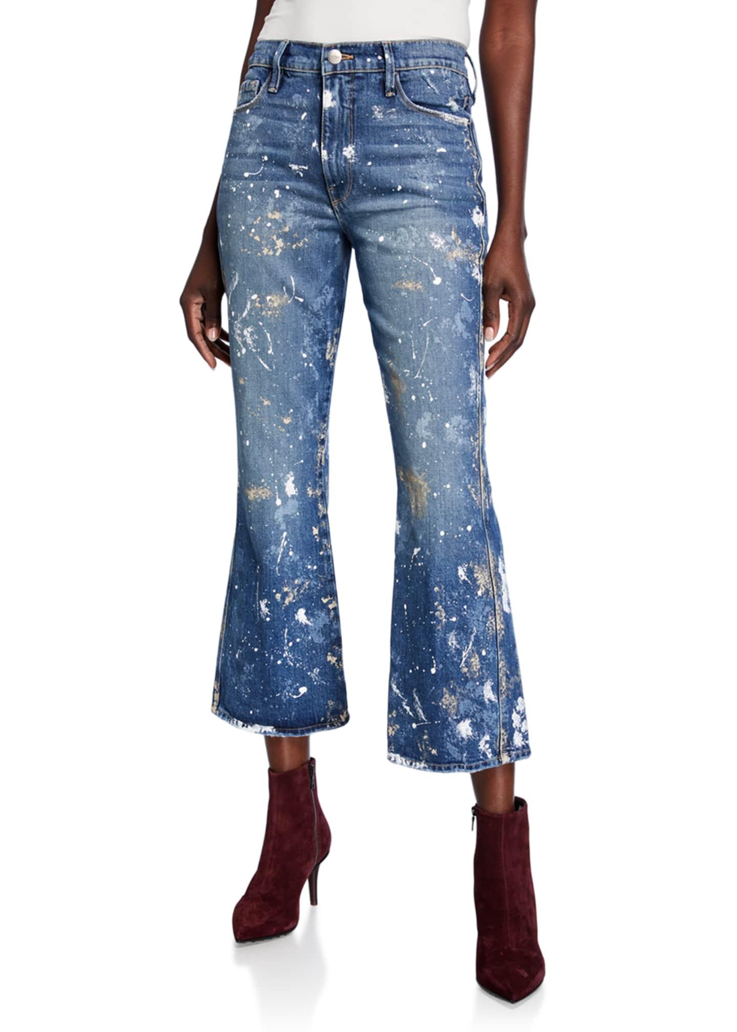 FRAME Le Sylvie Kick Boot-Cut Jeans